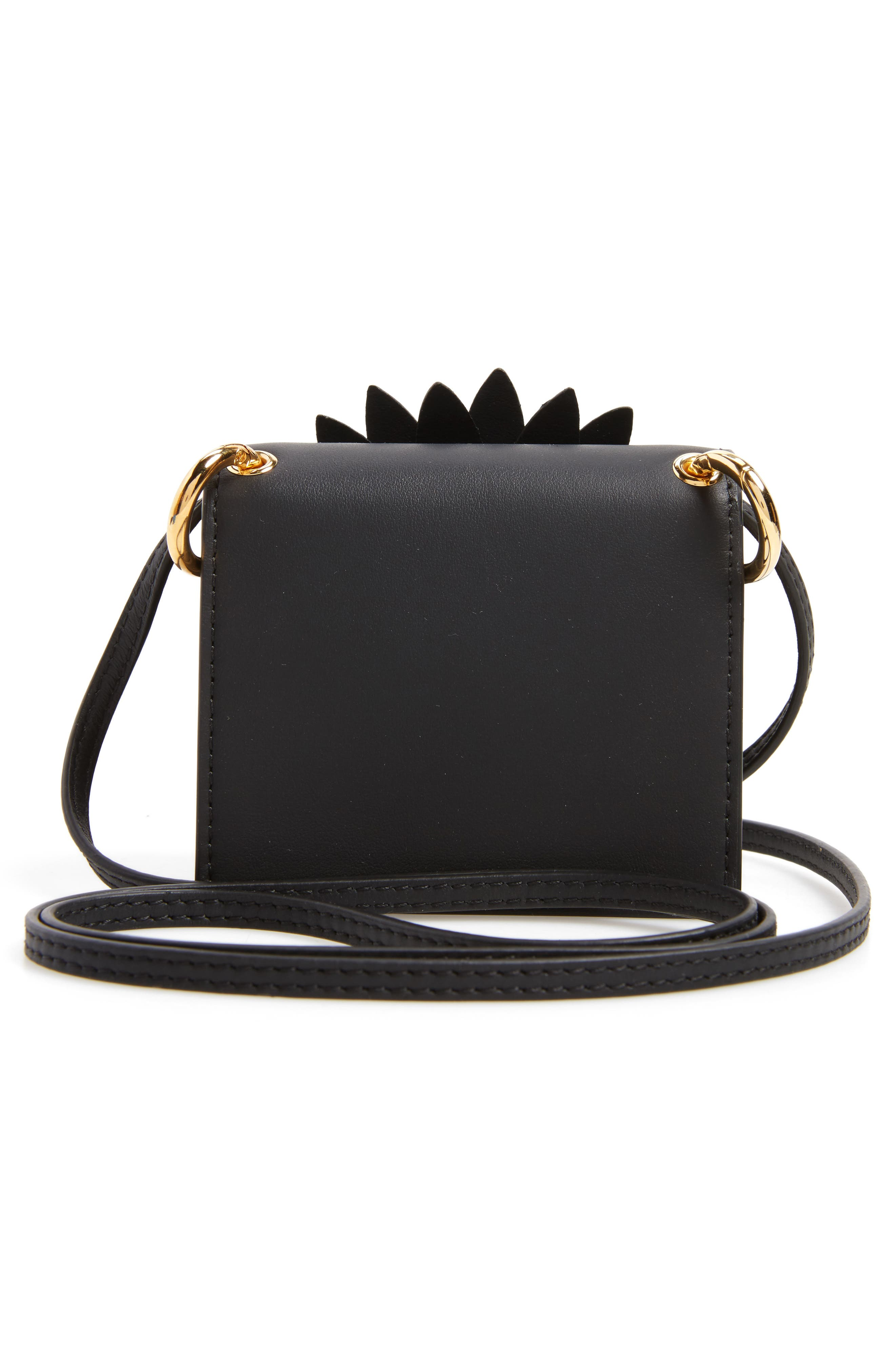 Mini Kan I Crossbody Bag with Genuine Python Trim,                             Alternate thumbnail 3, color,                             004