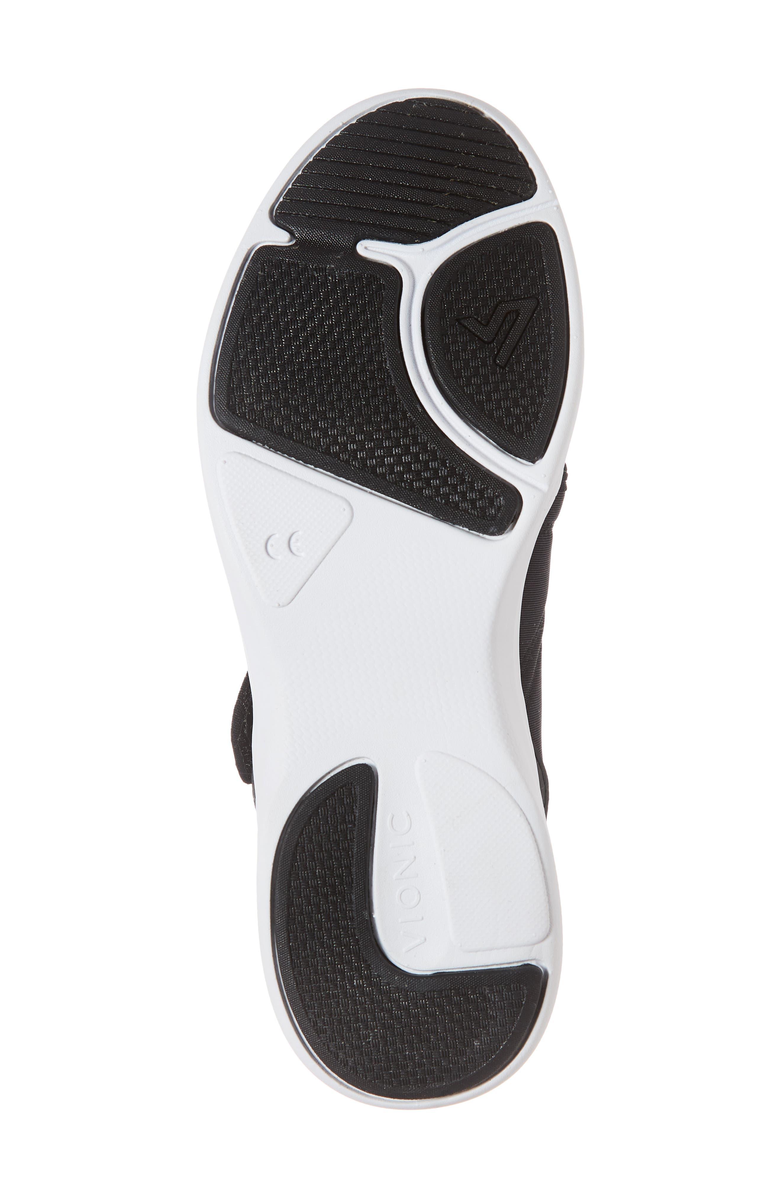 Sonnet Sneaker,                             Alternate thumbnail 6, color,                             BLACK FABRIC