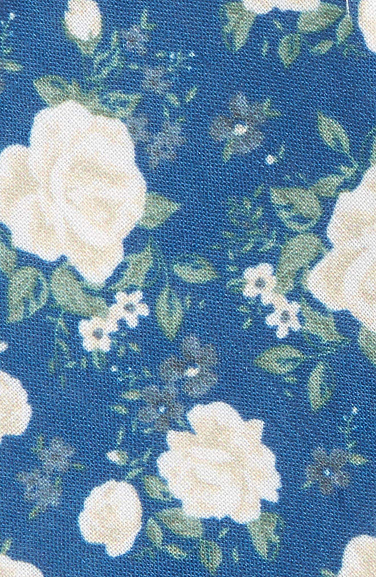 Hodgkiss Flowers Linen Bow Tie,                             Alternate thumbnail 3, color,                             ROYAL BLUE