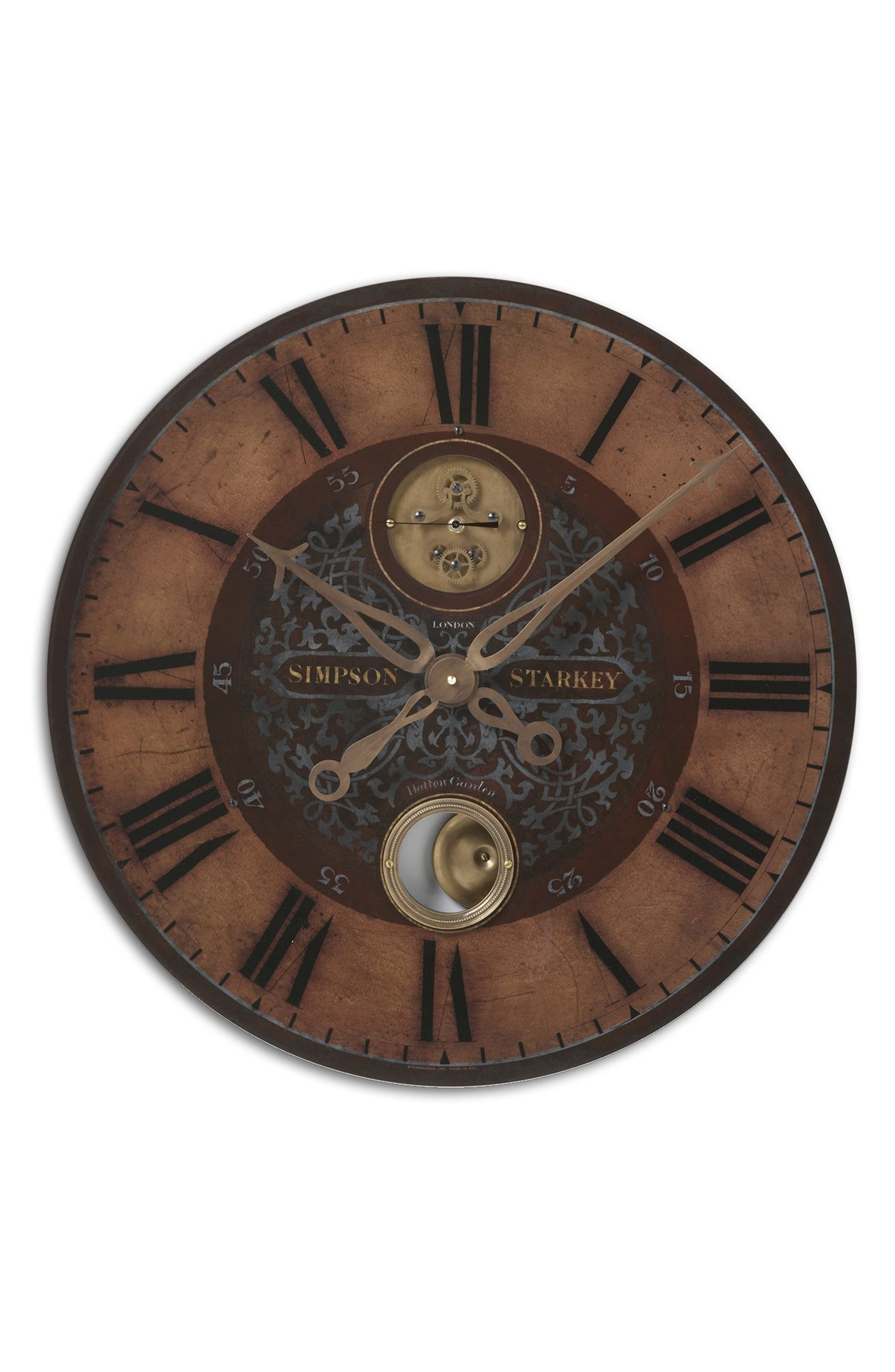 Simpson Starkey Wall Clock,                             Main thumbnail 1, color,                             220