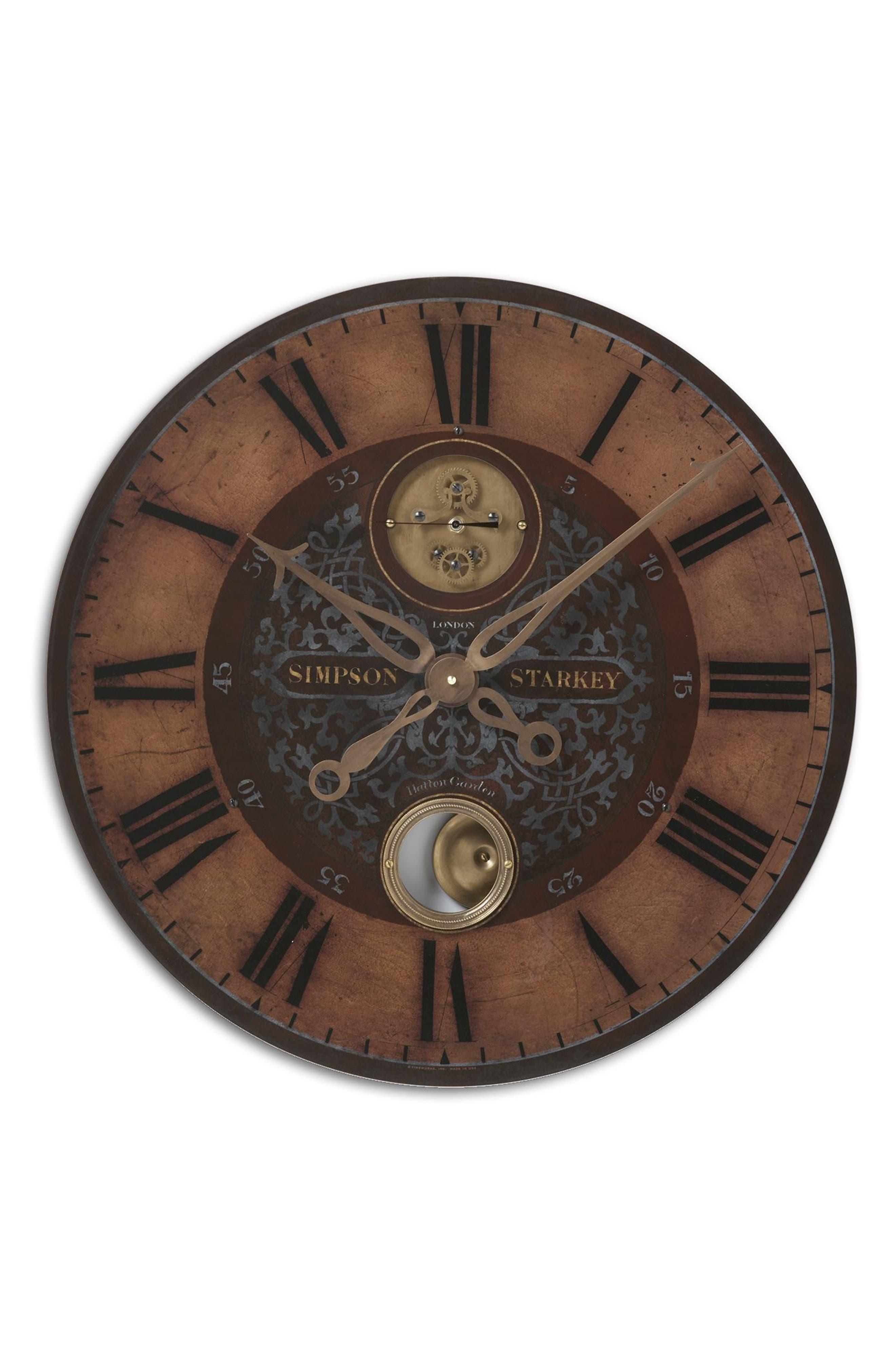 Simpson Starkey Wall Clock,                         Main,                         color, 220