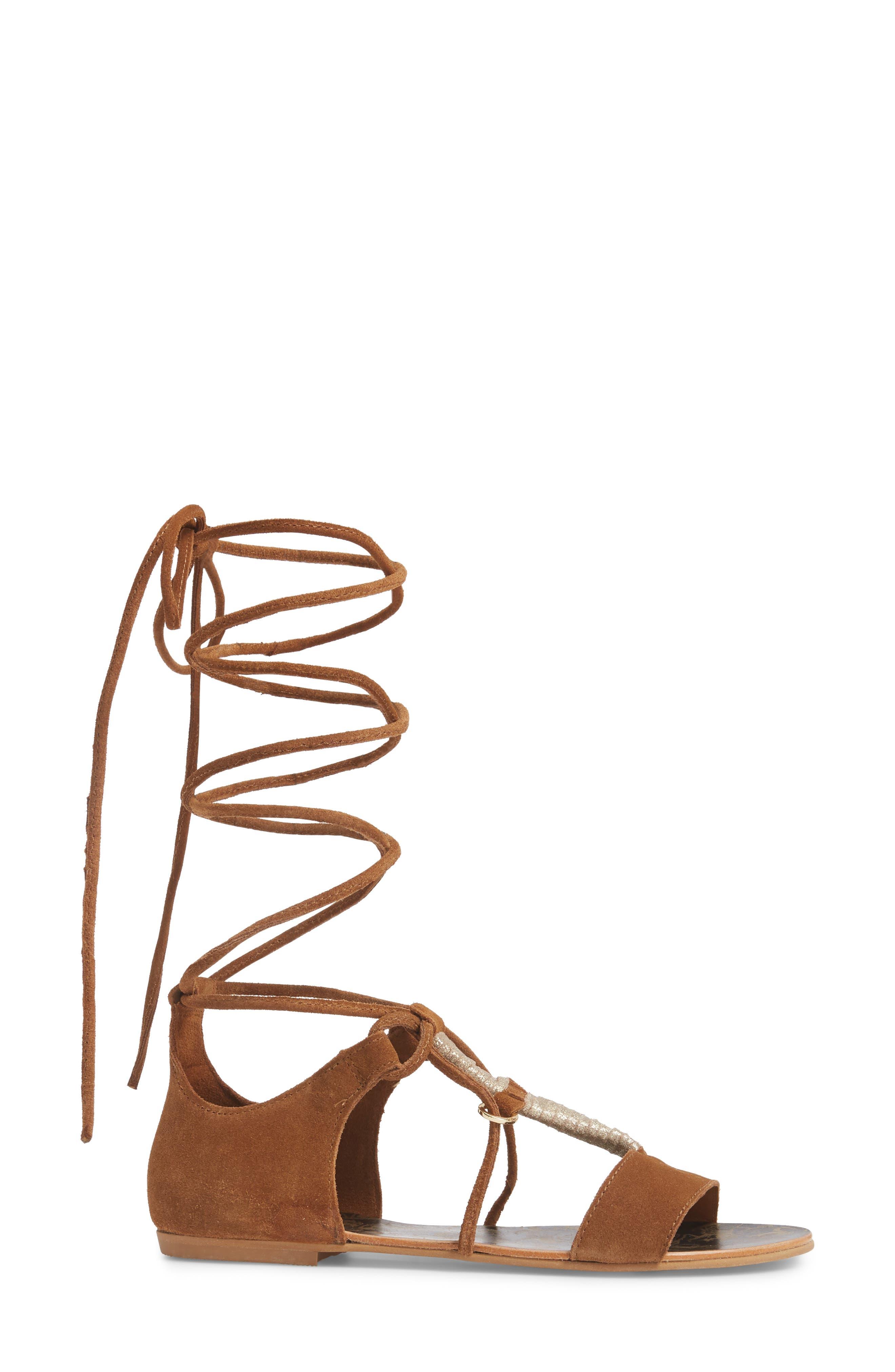 Fiji Wraparound Sandal,                             Alternate thumbnail 3, color,                             230
