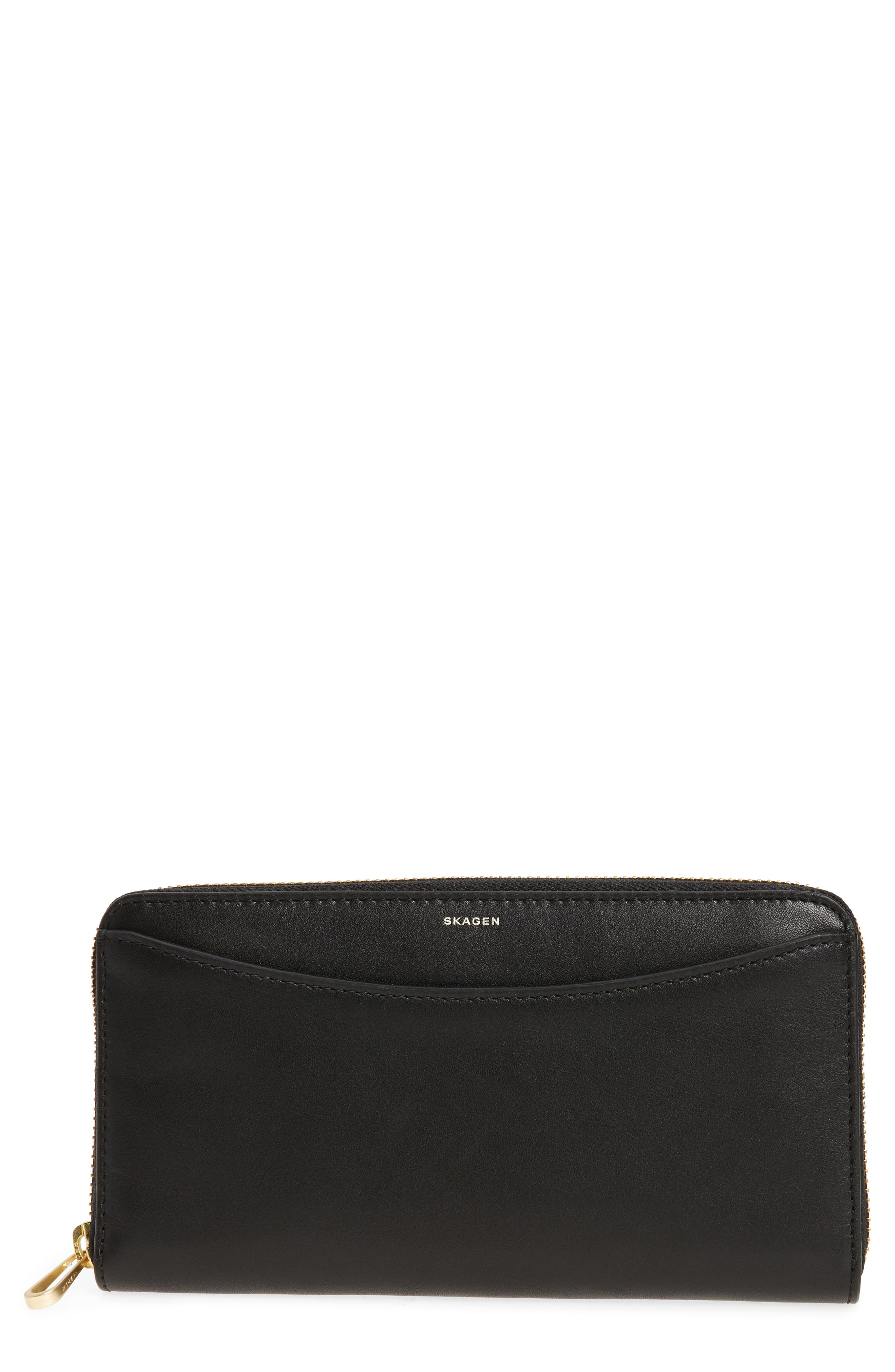 Leather Continental Wallet,                             Main thumbnail 1, color,                             001