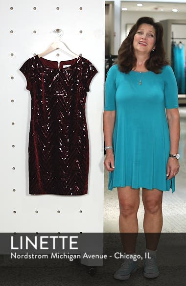 Sequin Sheath Dress, sales video thumbnail
