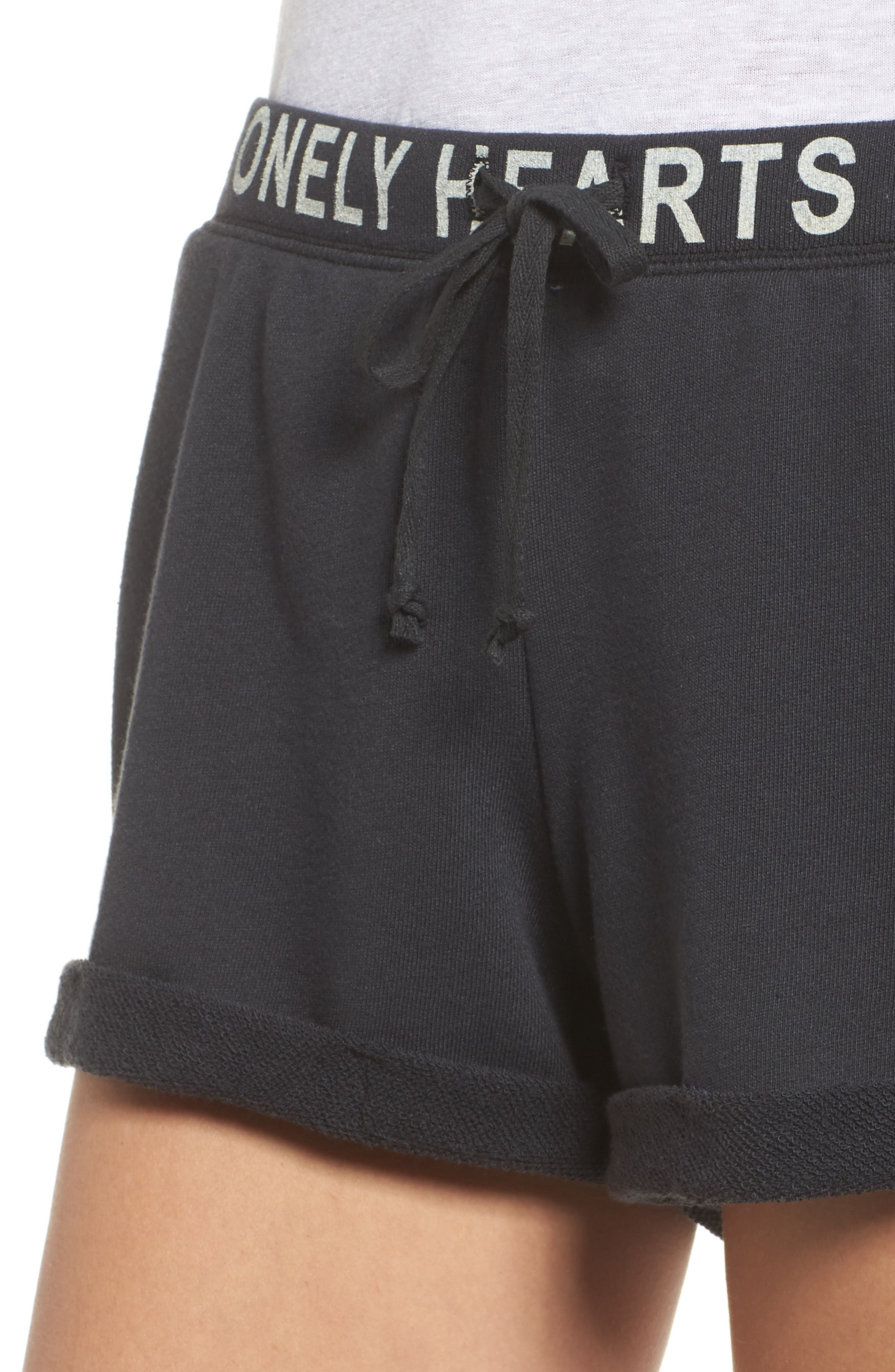 Lonely Hearts Club Lounge Shorts,                             Alternate thumbnail 4, color,