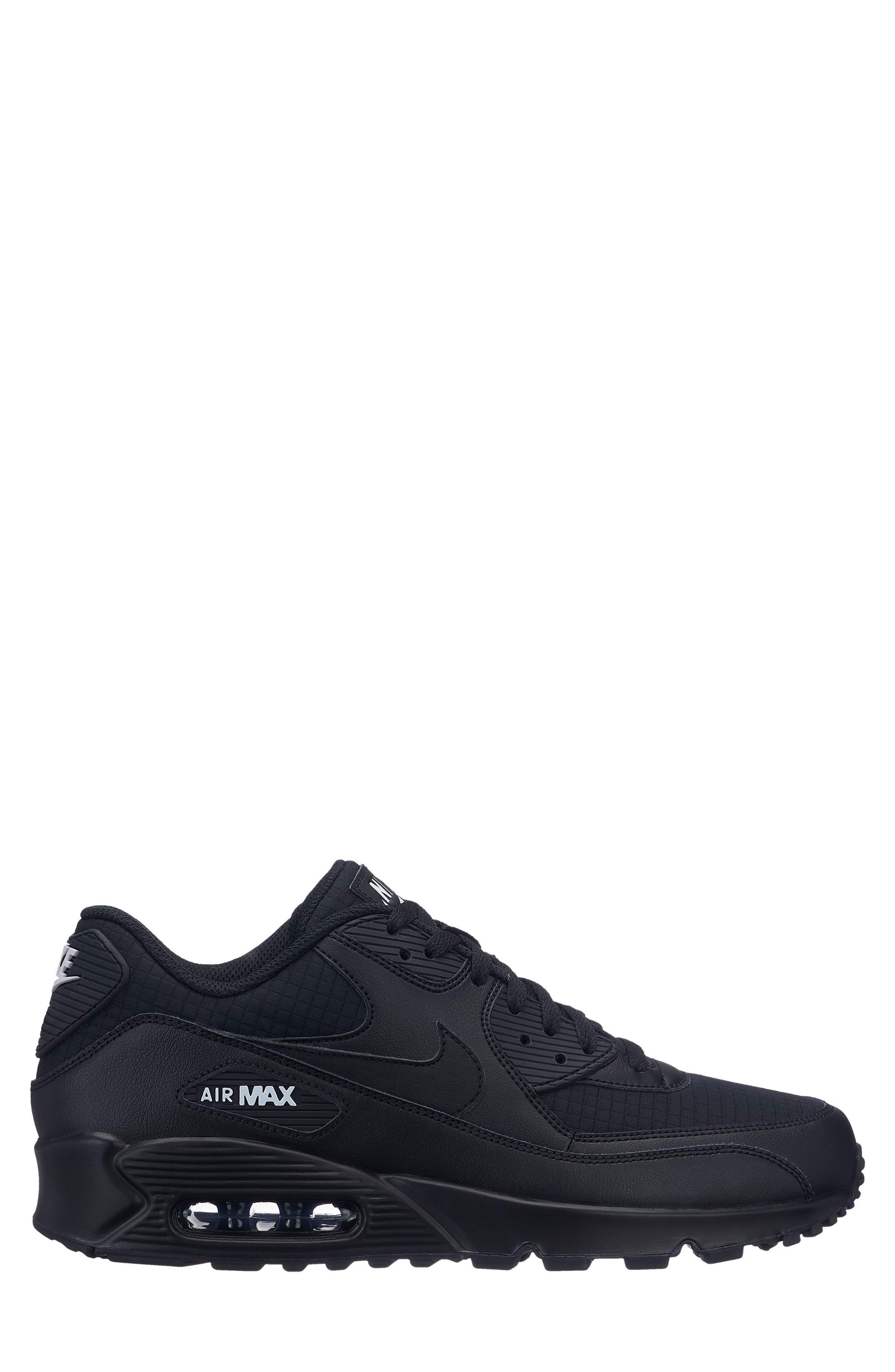 Air Max 90 Essential Sneaker,                             Main thumbnail 1, color,                             BLACK/ WHITE