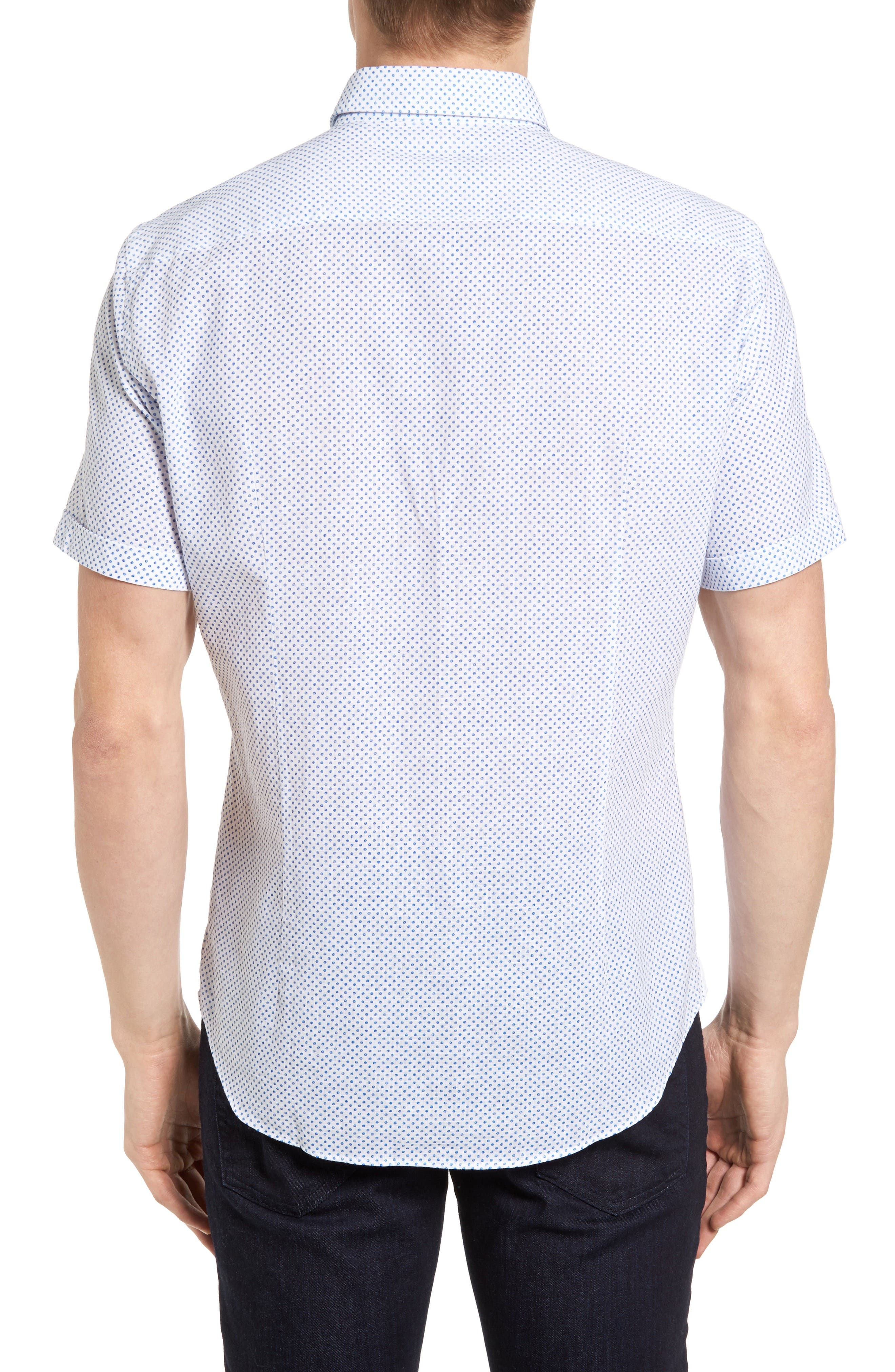Robbie Slim Fit Dot Print Sport Shirt,                             Alternate thumbnail 2, color,