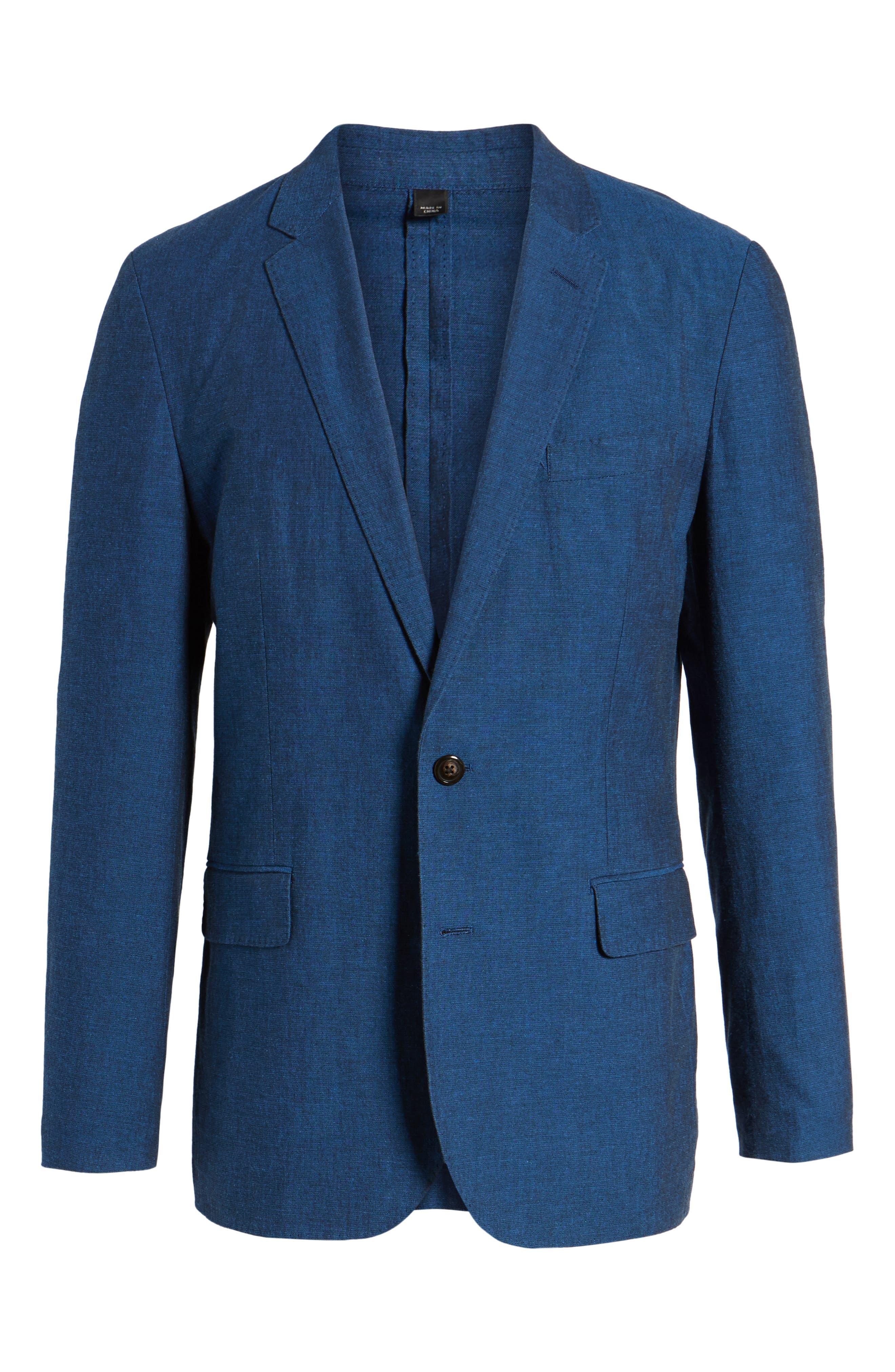 Ludlow Cotton & Linen Blazer,                             Alternate thumbnail 5, color,                             400