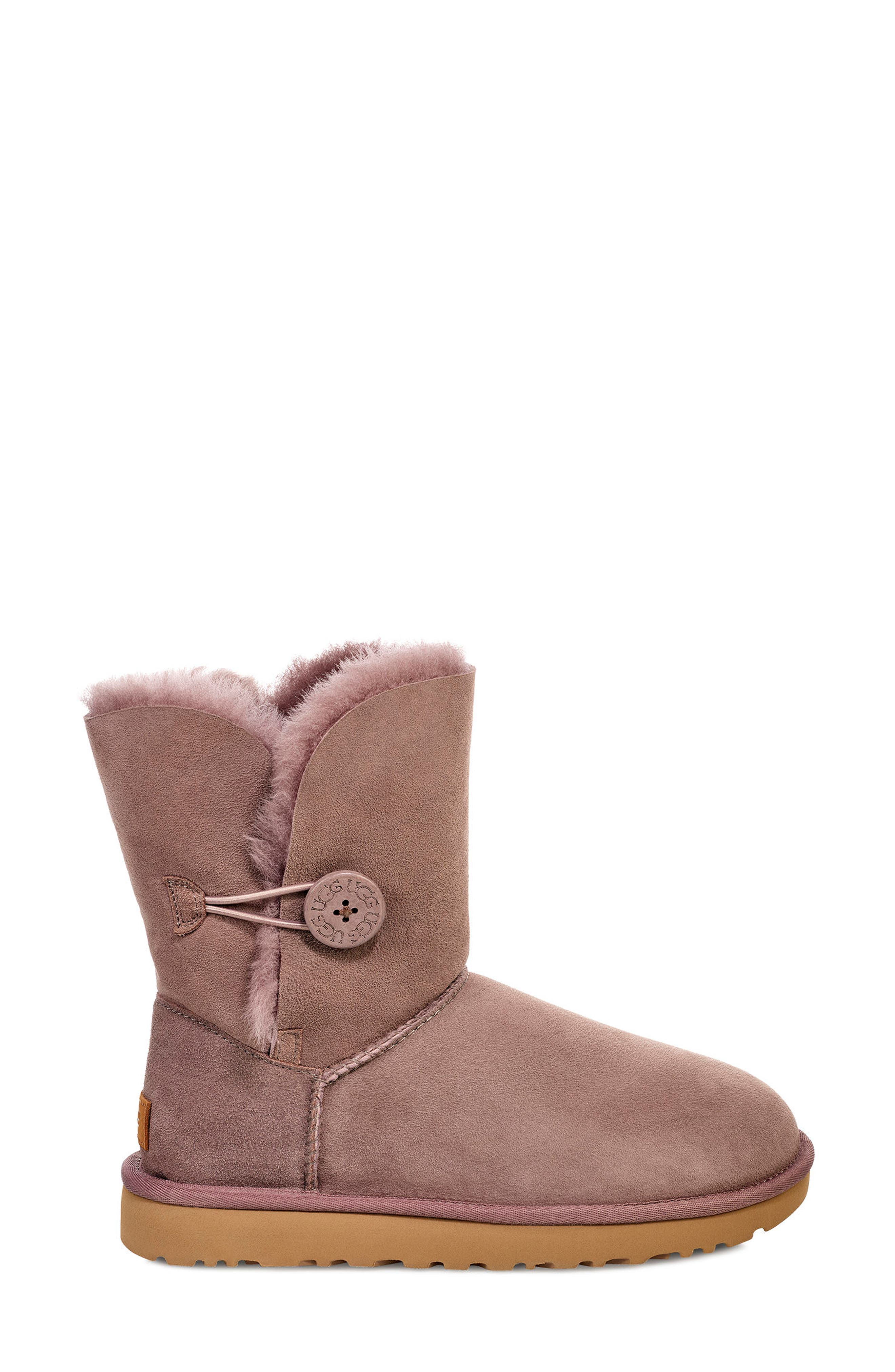 'Bailey Button II' Boot,                             Alternate thumbnail 3, color,                             STORMY GREY SUEDE