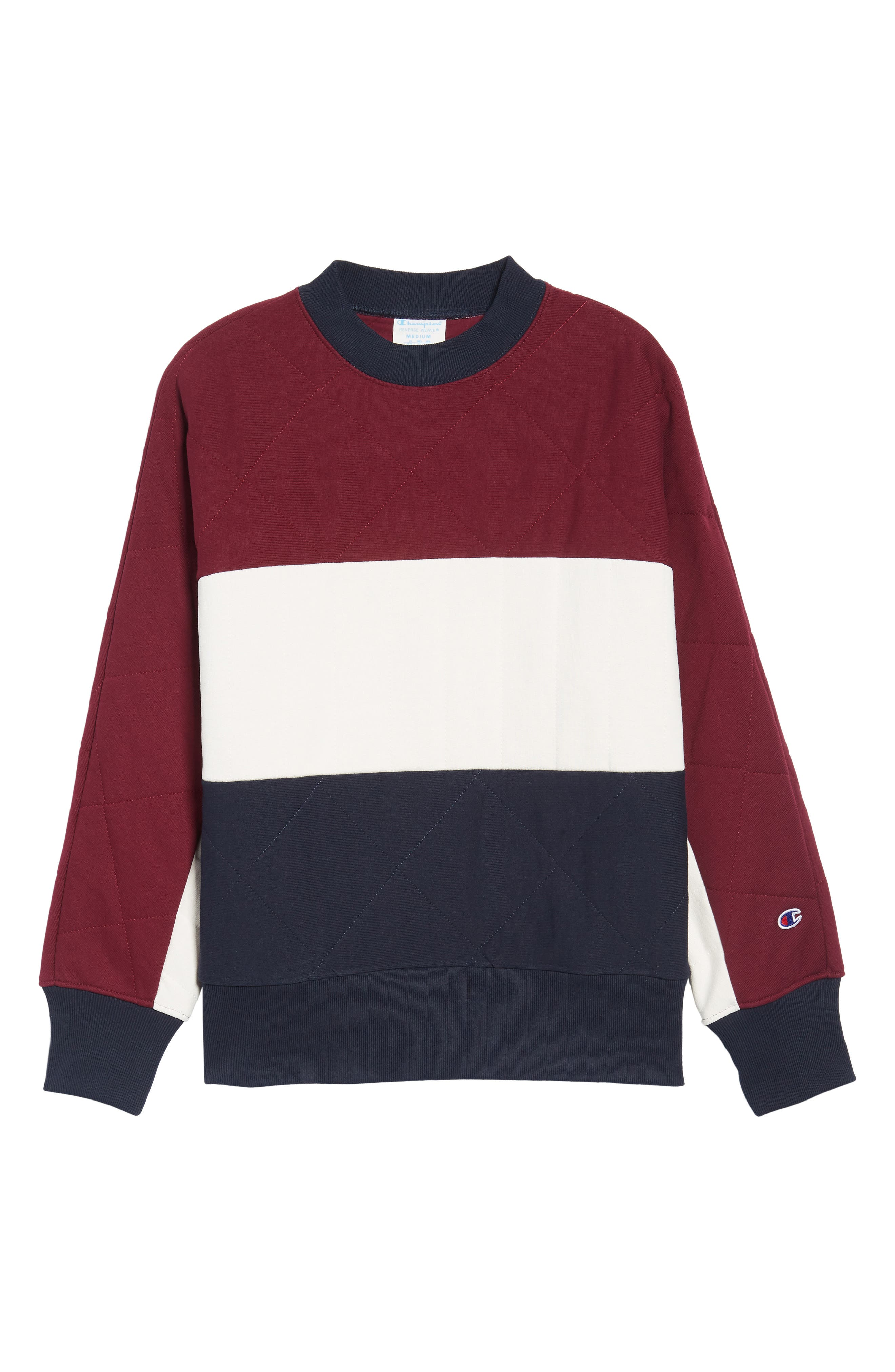 Quilted Colorblock Sweatshirt,                             Alternate thumbnail 5, color,                             930
