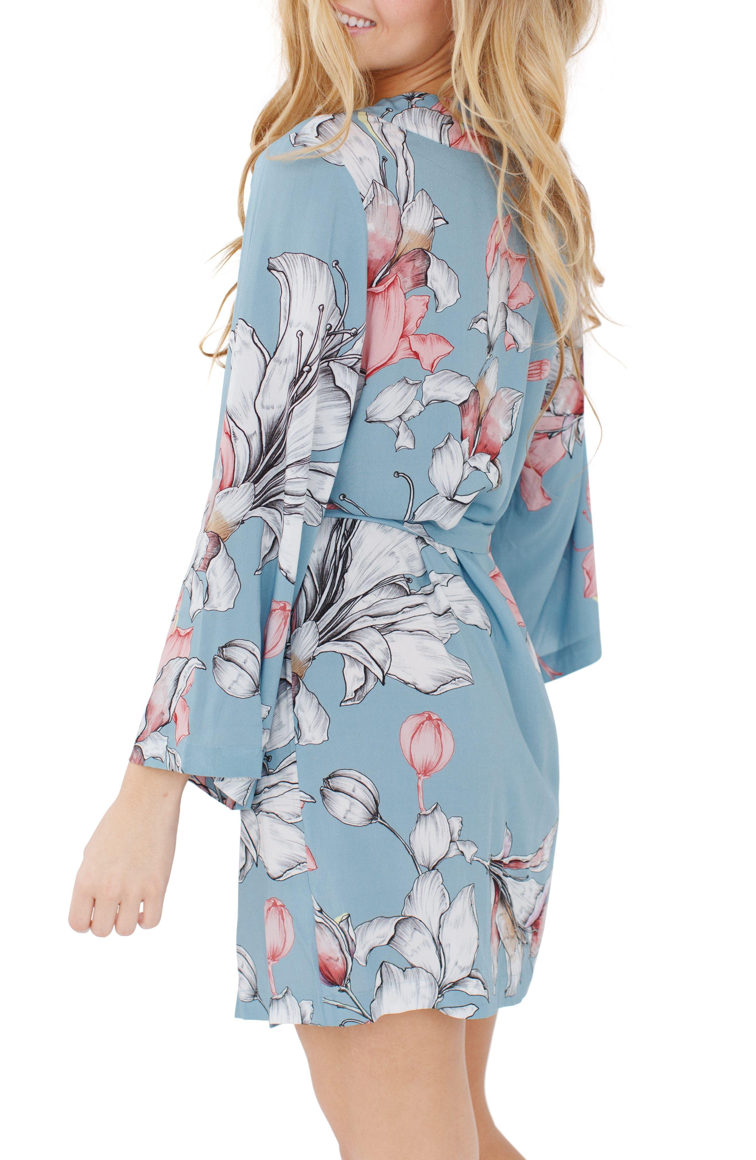Floral Kimono Robe,                             Alternate thumbnail 2, color,                             400