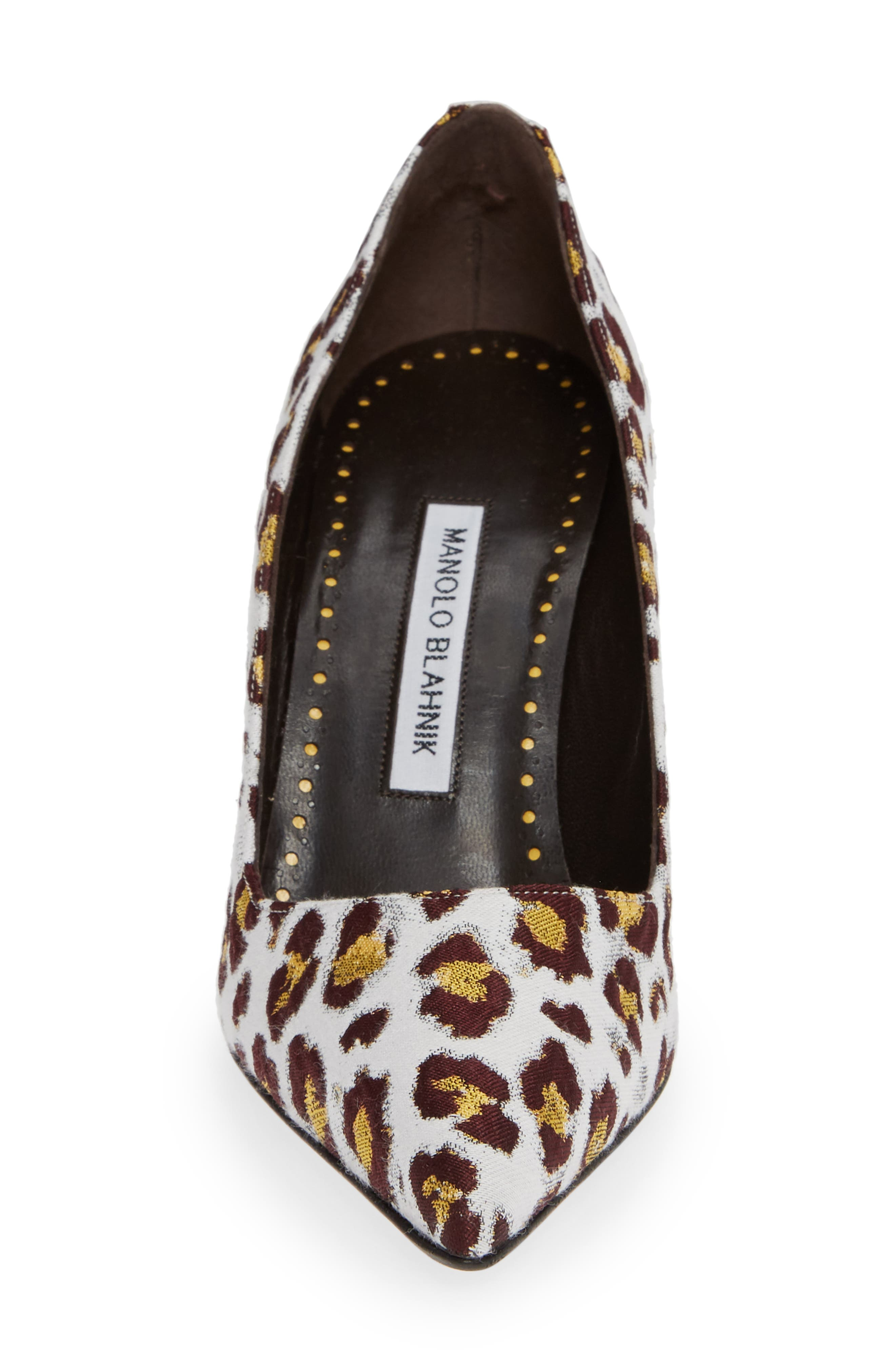 Pointy Toe Pump,                             Alternate thumbnail 4, color,                             LEOPARD
