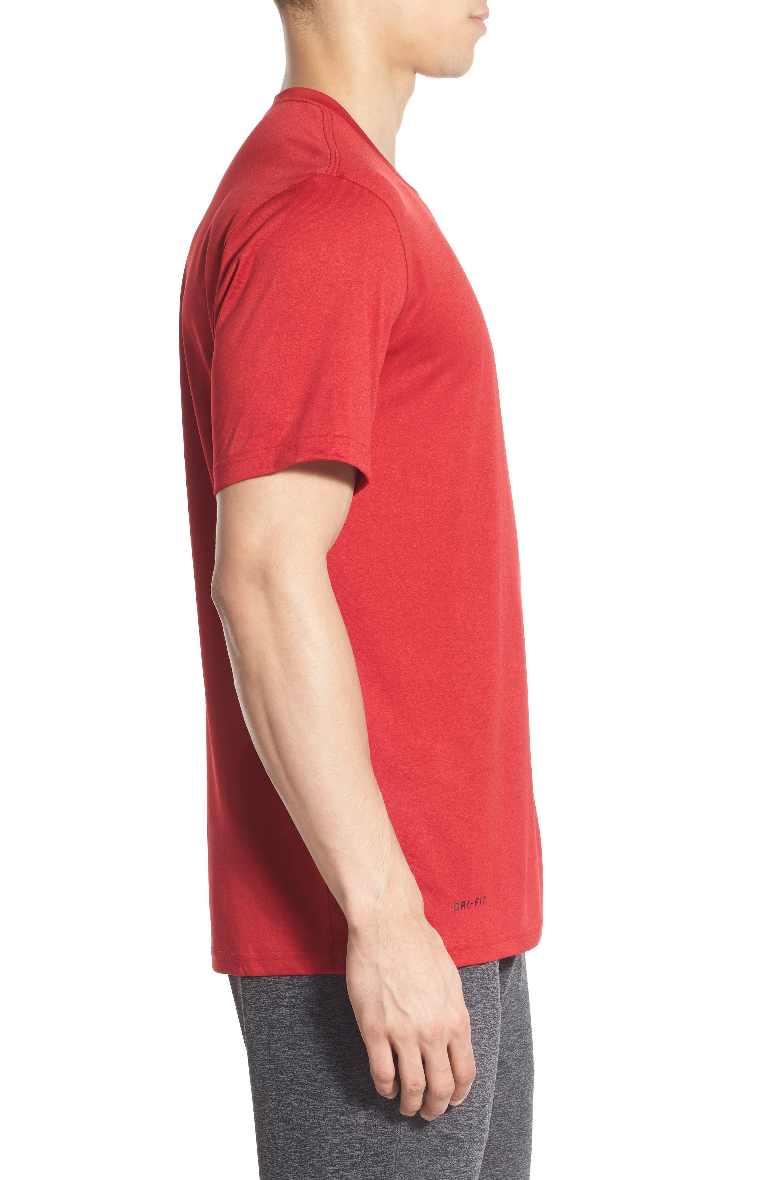 Legend 2.0 Dri-FIT Graphic T-Shirt,                             Alternate thumbnail 2, color,                             GYM RED/BLACK/BLACK