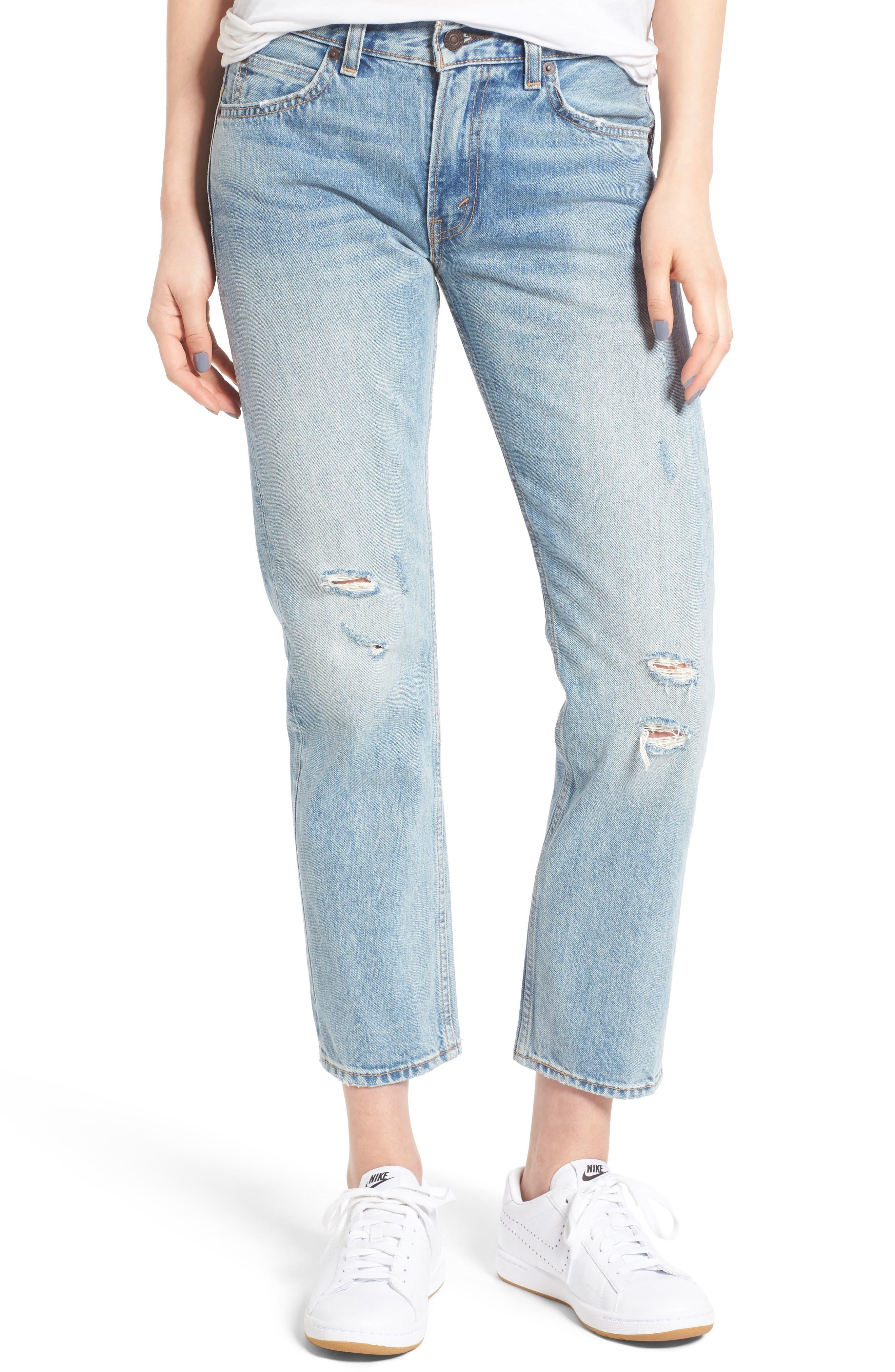 505<sup>™</sup>C Crop Straight Leg Jeans, Main, color, 450