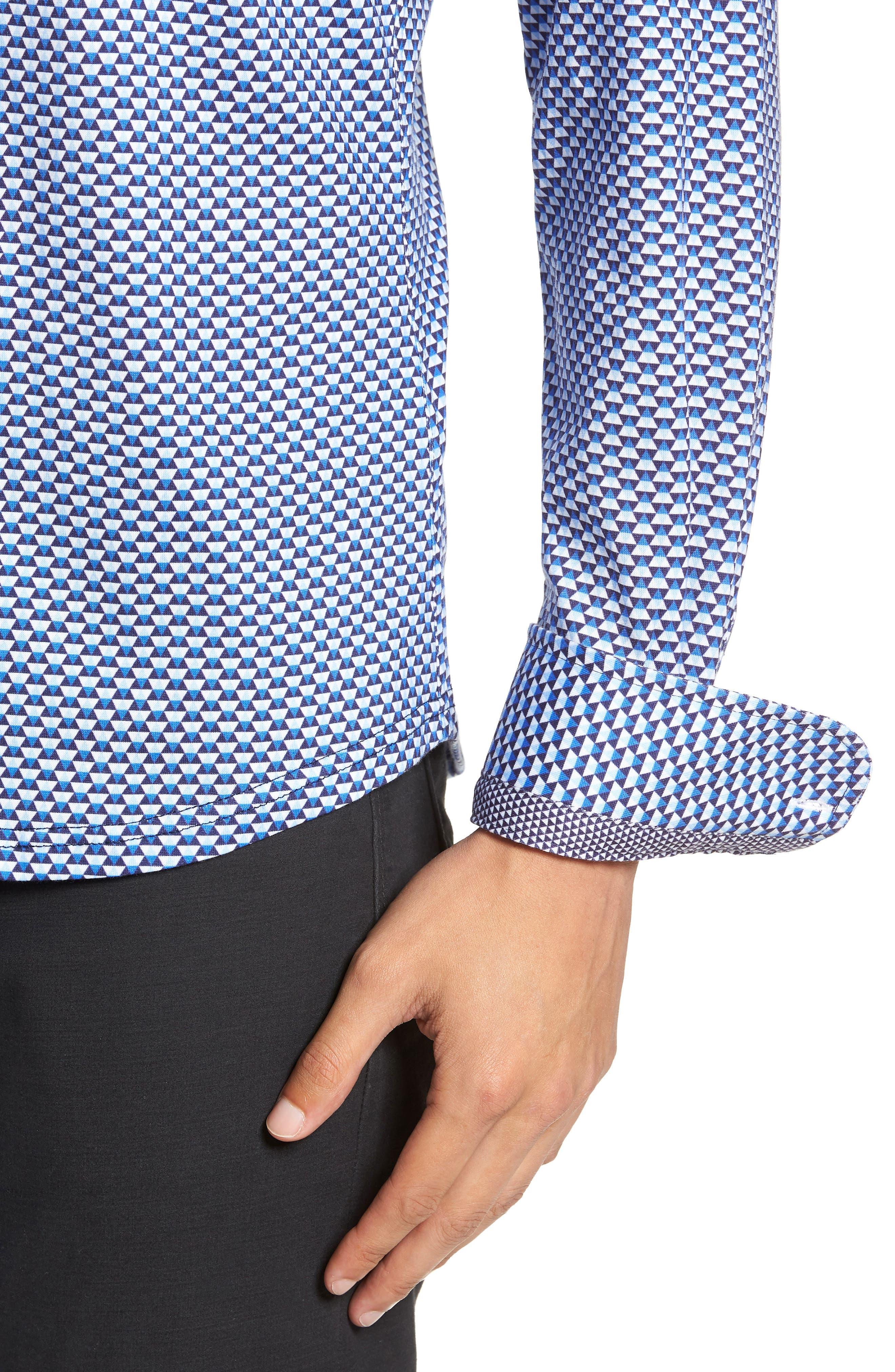 Trim Fit Knit Sport Shirt,                             Alternate thumbnail 2, color,                             WHITE