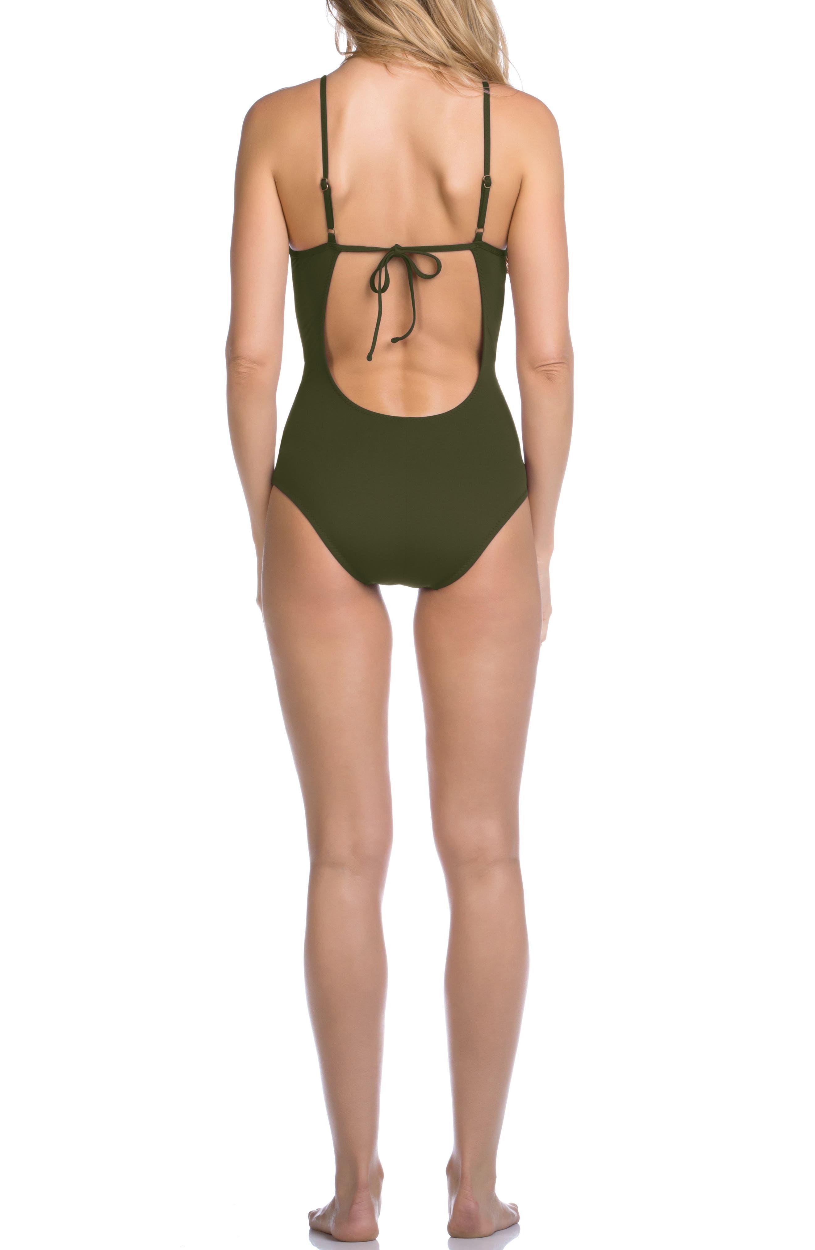 Siren One-Piece Swimsuit,                             Alternate thumbnail 2, color,                             308