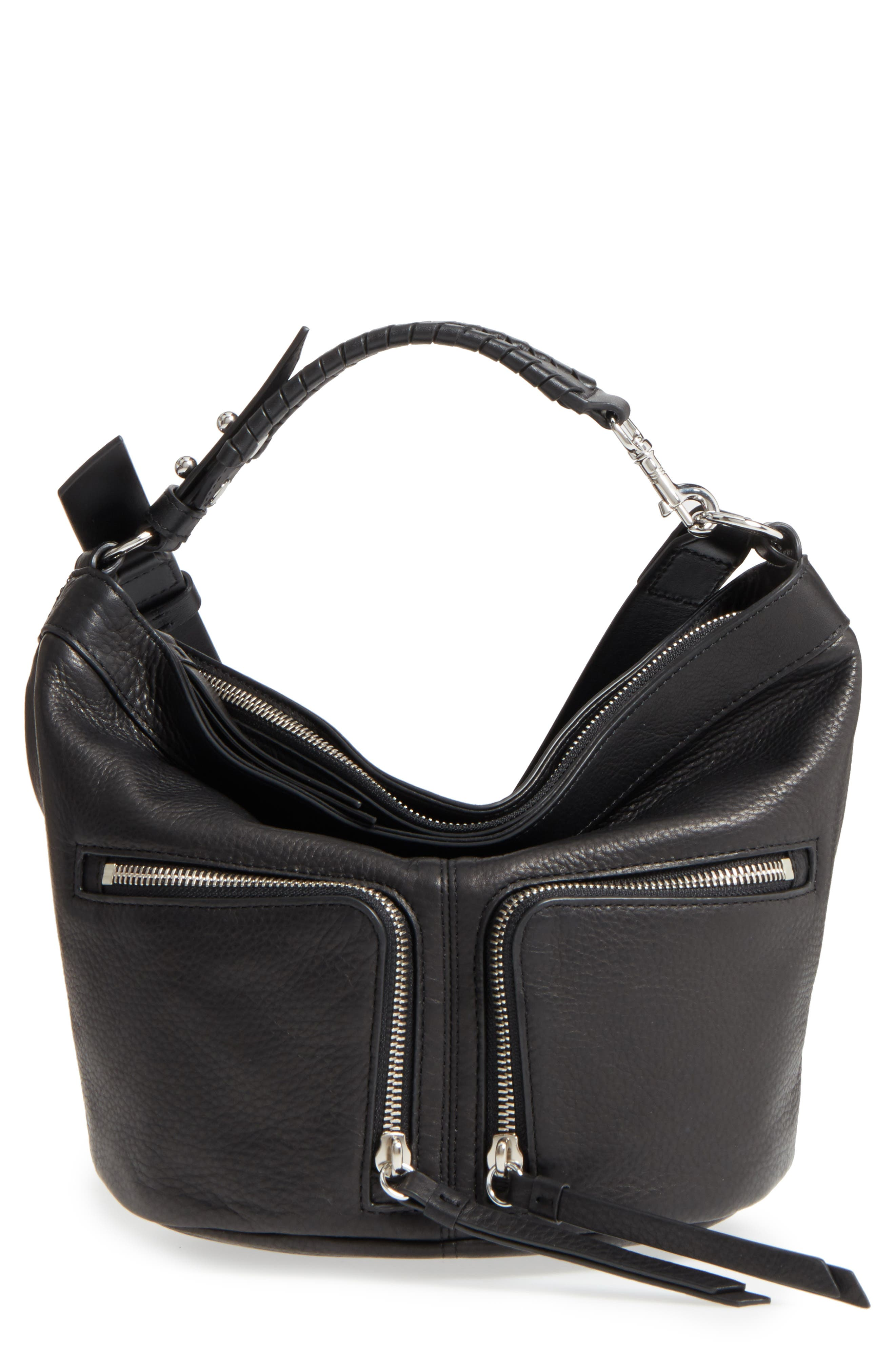Fetch Leather Crossbody Bag,                         Main,                         color, 001
