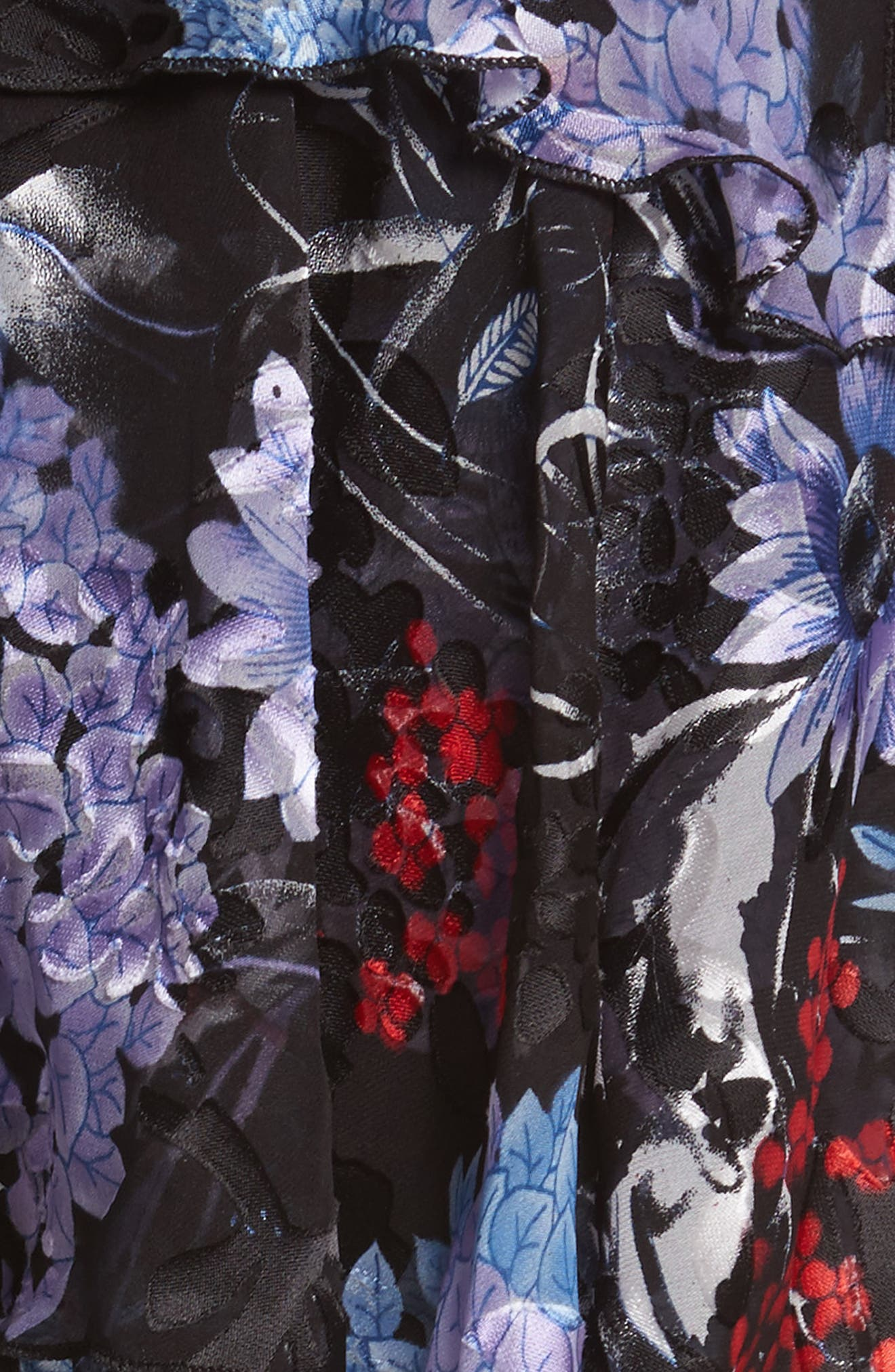 Nichola Cold Shoulder Floral Dress,                             Alternate thumbnail 5, color,                             560
