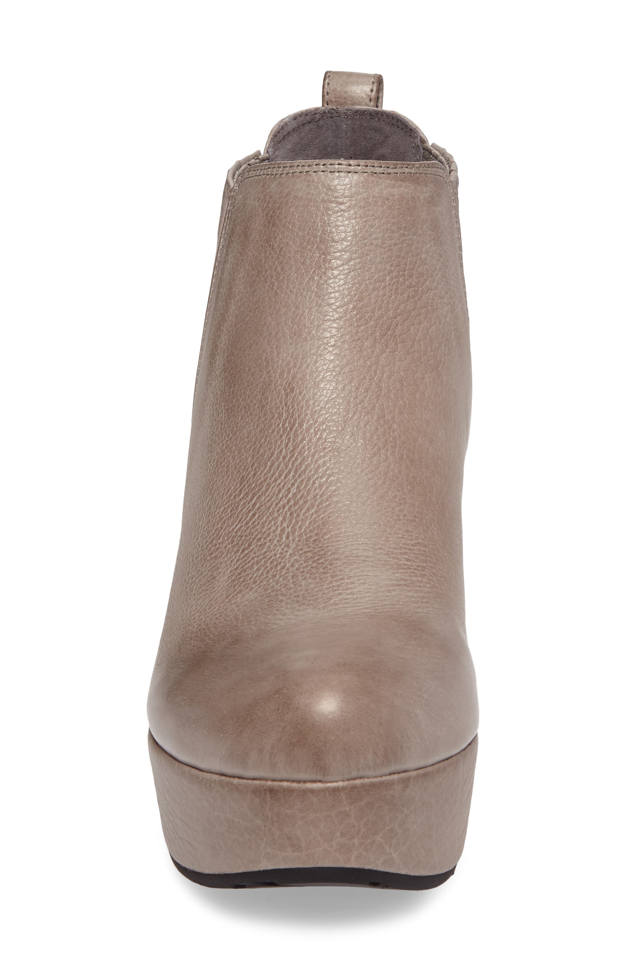 Walden Wedge Bootie,                             Alternate thumbnail 4, color,                             GREY LEATHER