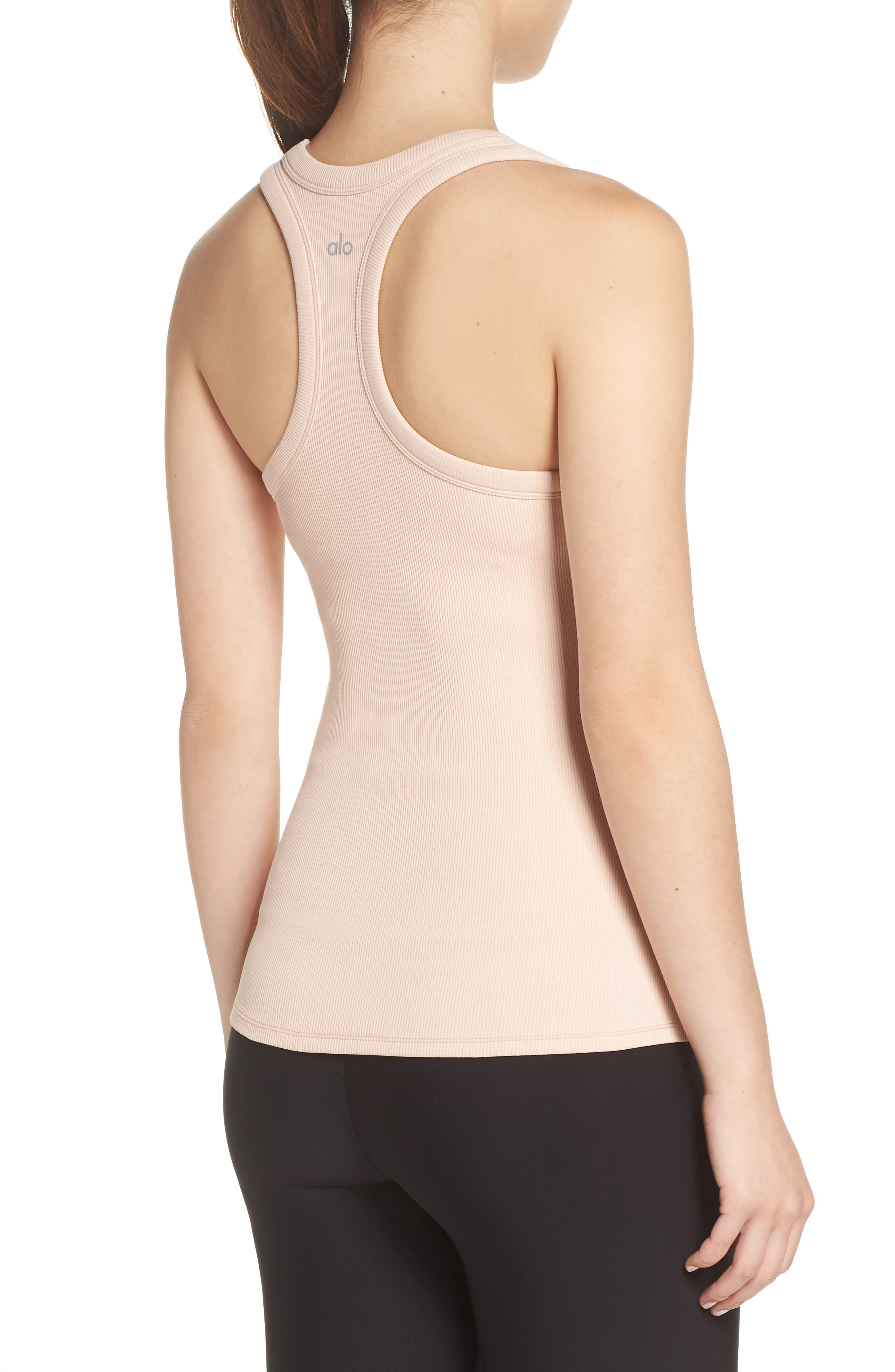 Support Ribbed Racerback Tank,                             Alternate thumbnail 2, color,                             NECTAR