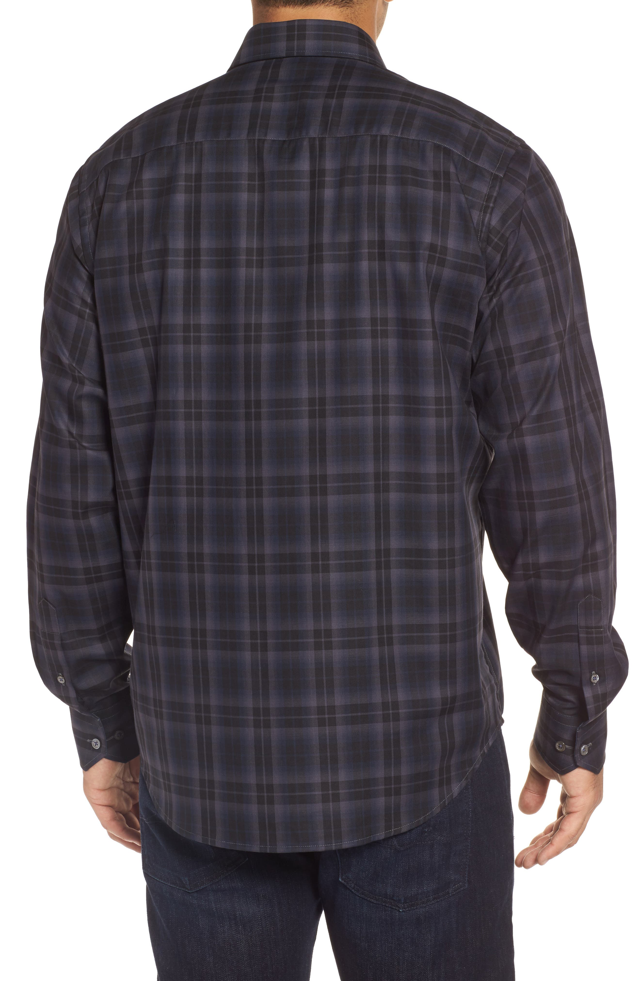 Classic Fit Large Check Twill Sport Shirt,                             Alternate thumbnail 2, color,                             020