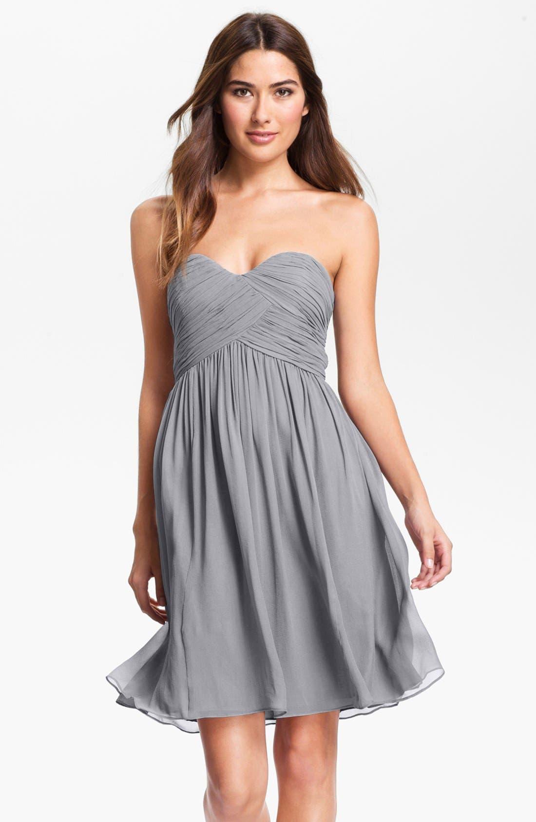 'Morgan' Strapless Silk Chiffon Dress,                             Alternate thumbnail 44, color,
