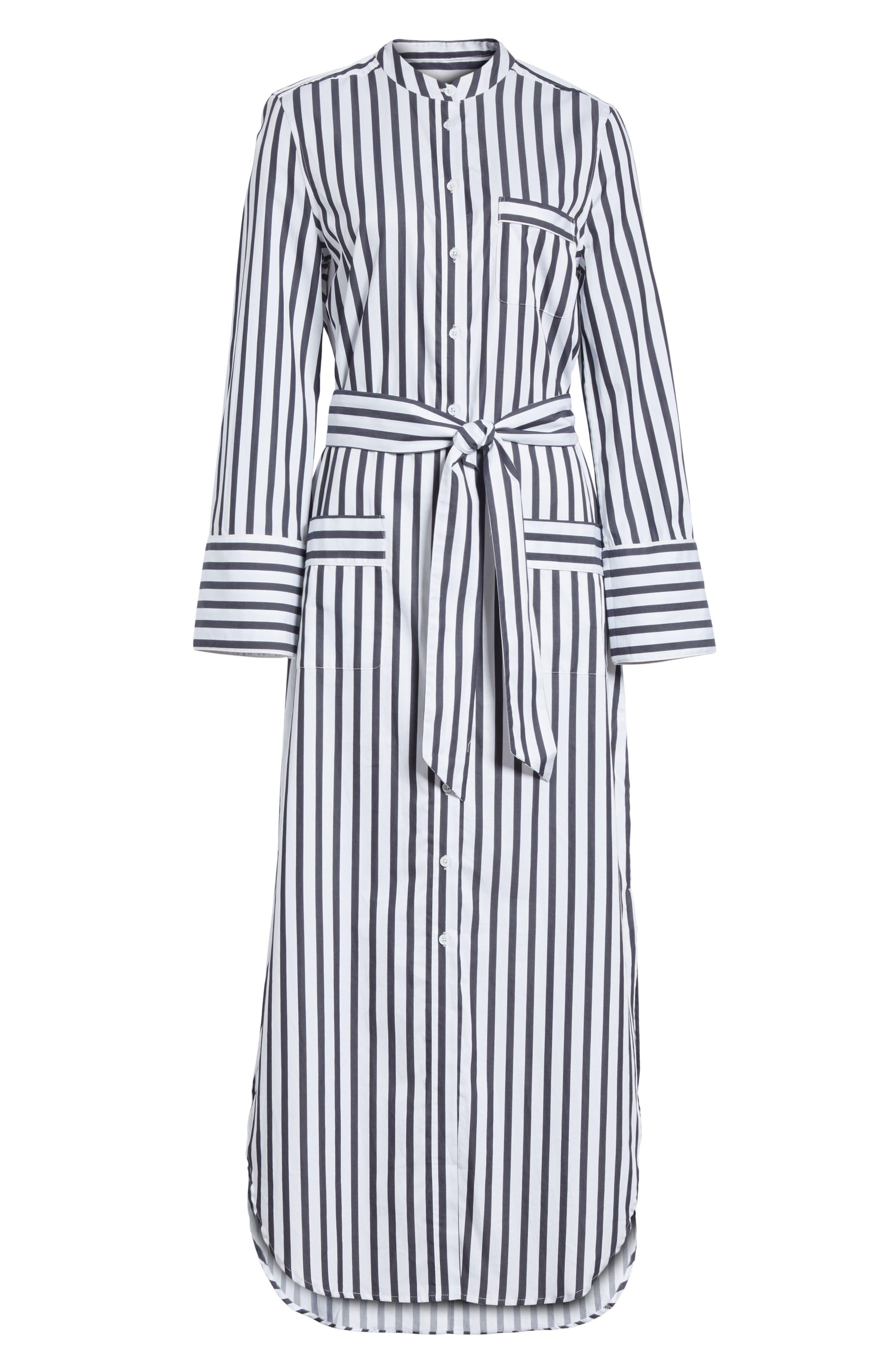 Britten Stripe Cotton Maxi Dress,                             Alternate thumbnail 6, color,                             125