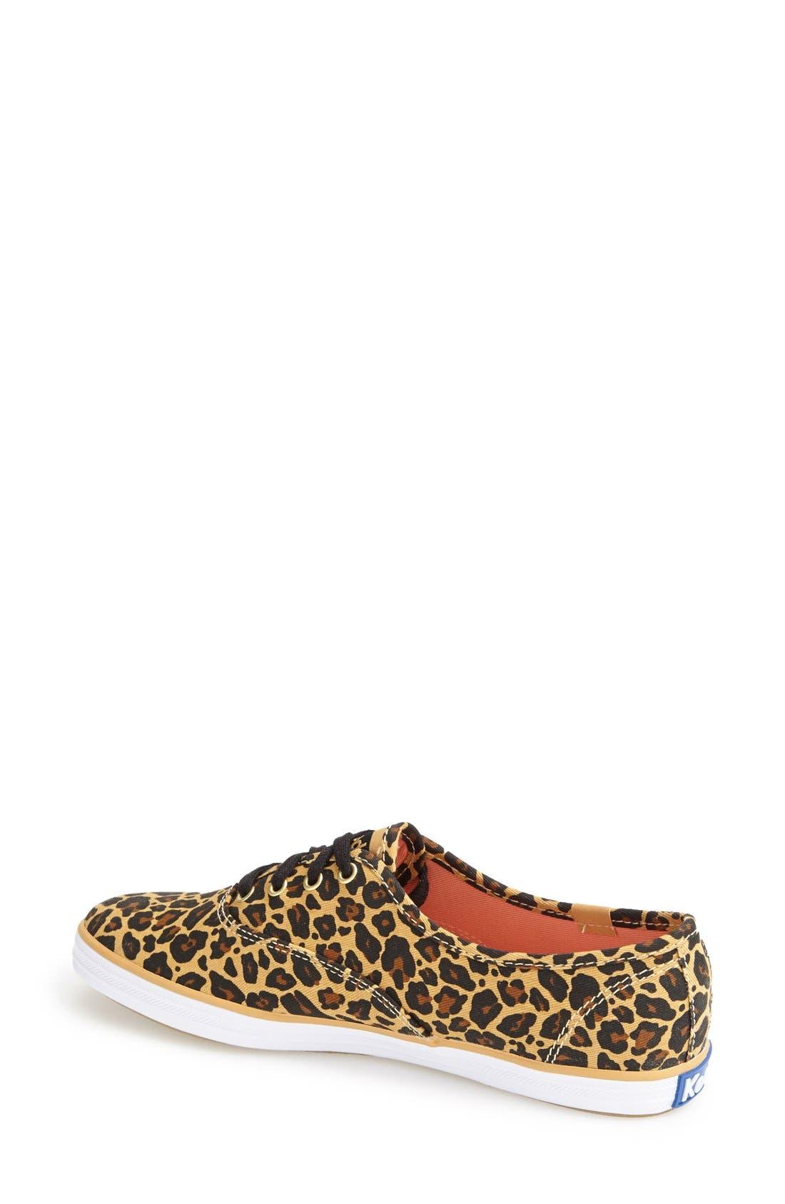 KEDS<SUP>®</SUP>,                             'Champion' Leopard Print Sneaker,                             Alternate thumbnail 4, color,                             230