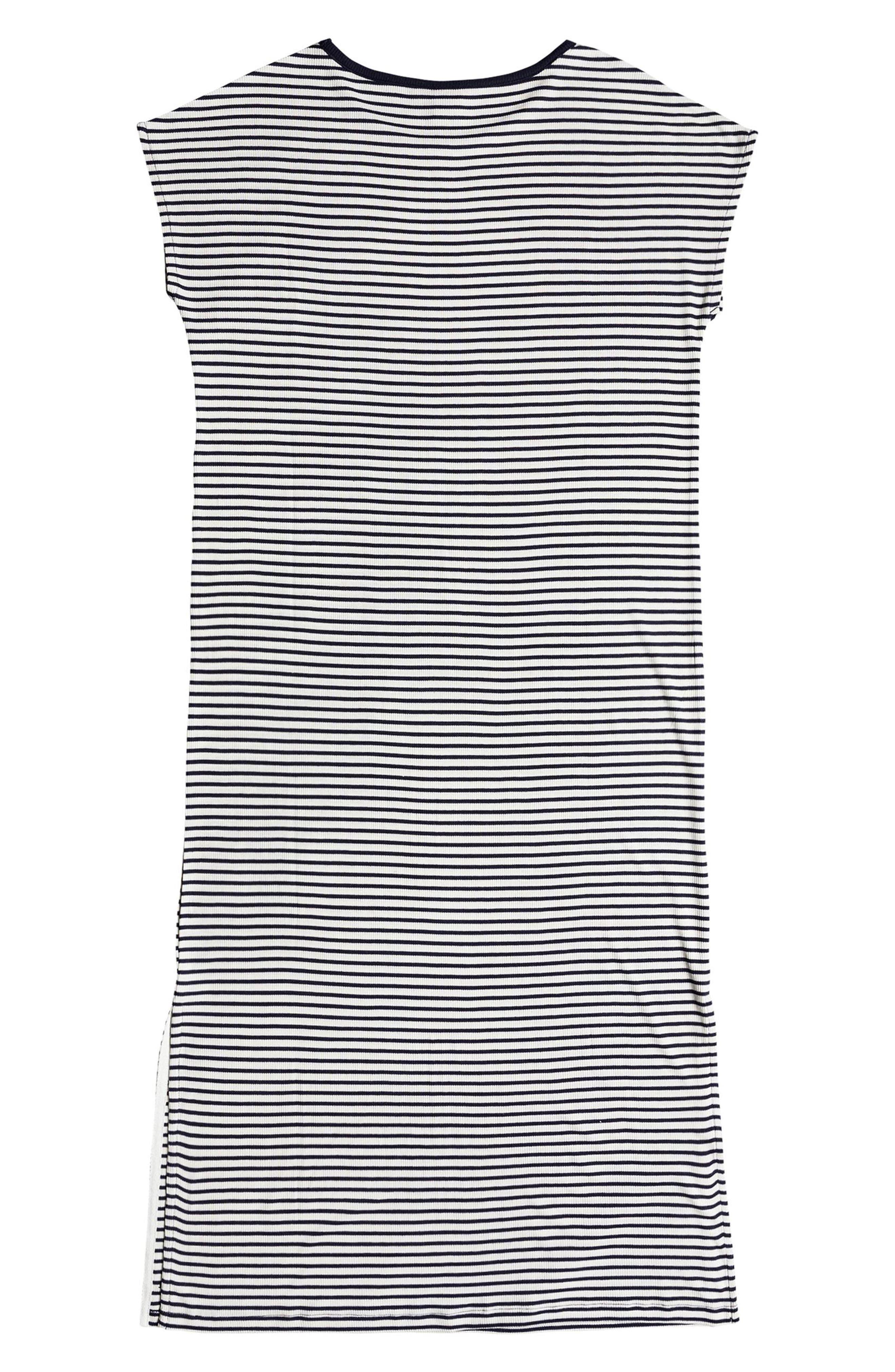 Make It New Stripe Midi Dress,                             Alternate thumbnail 5, color,                             100