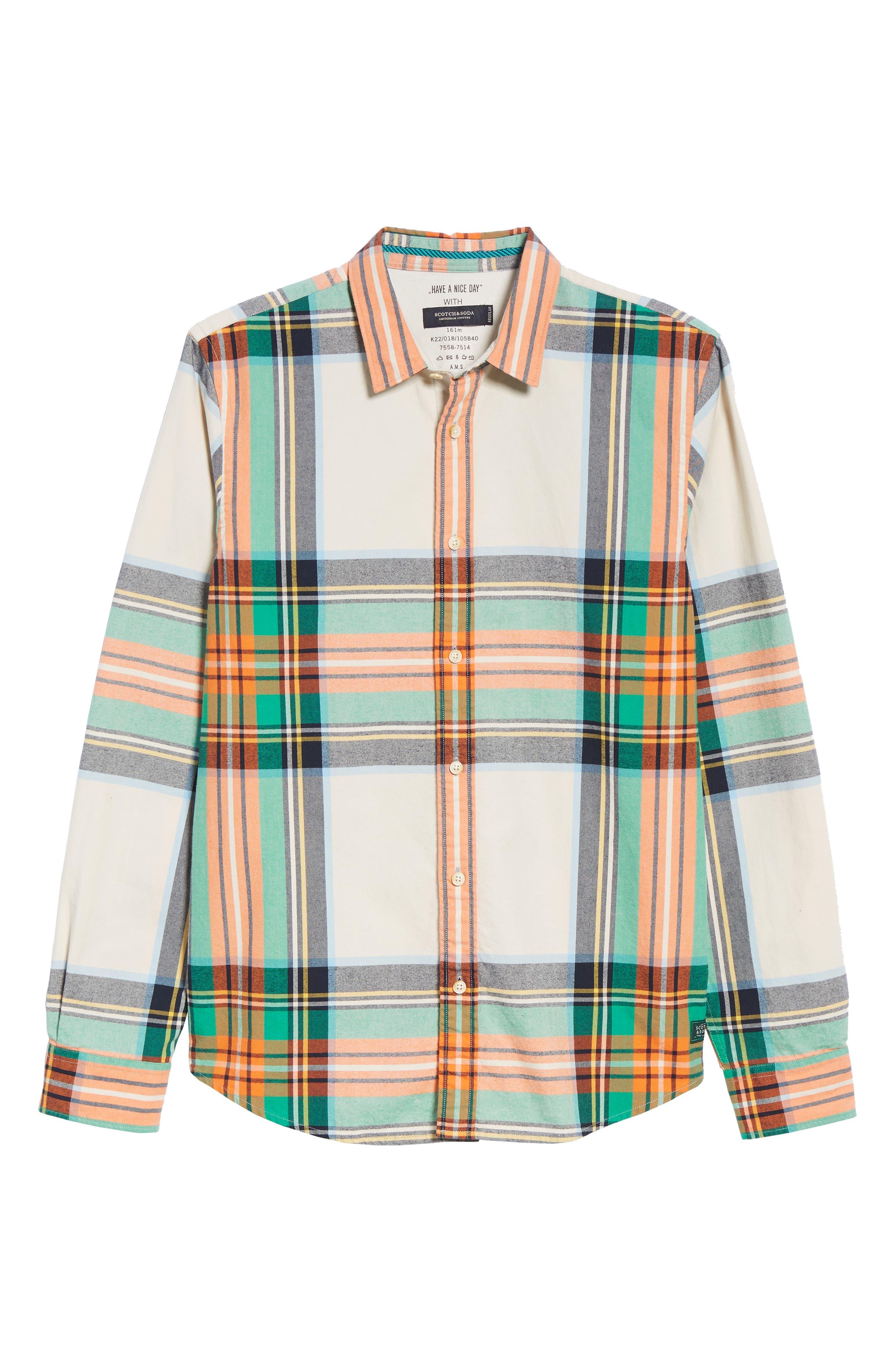 Plaid Flannel Shirt,                             Alternate thumbnail 5, color,                             COMBO D