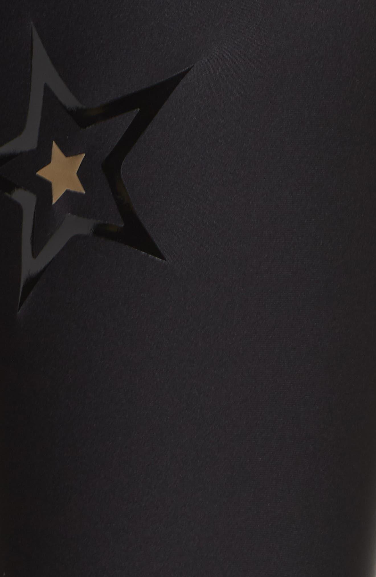 Ultra High Duochrome Pop Star Leggings,                             Alternate thumbnail 6, color,                             NERO PATENT NERO