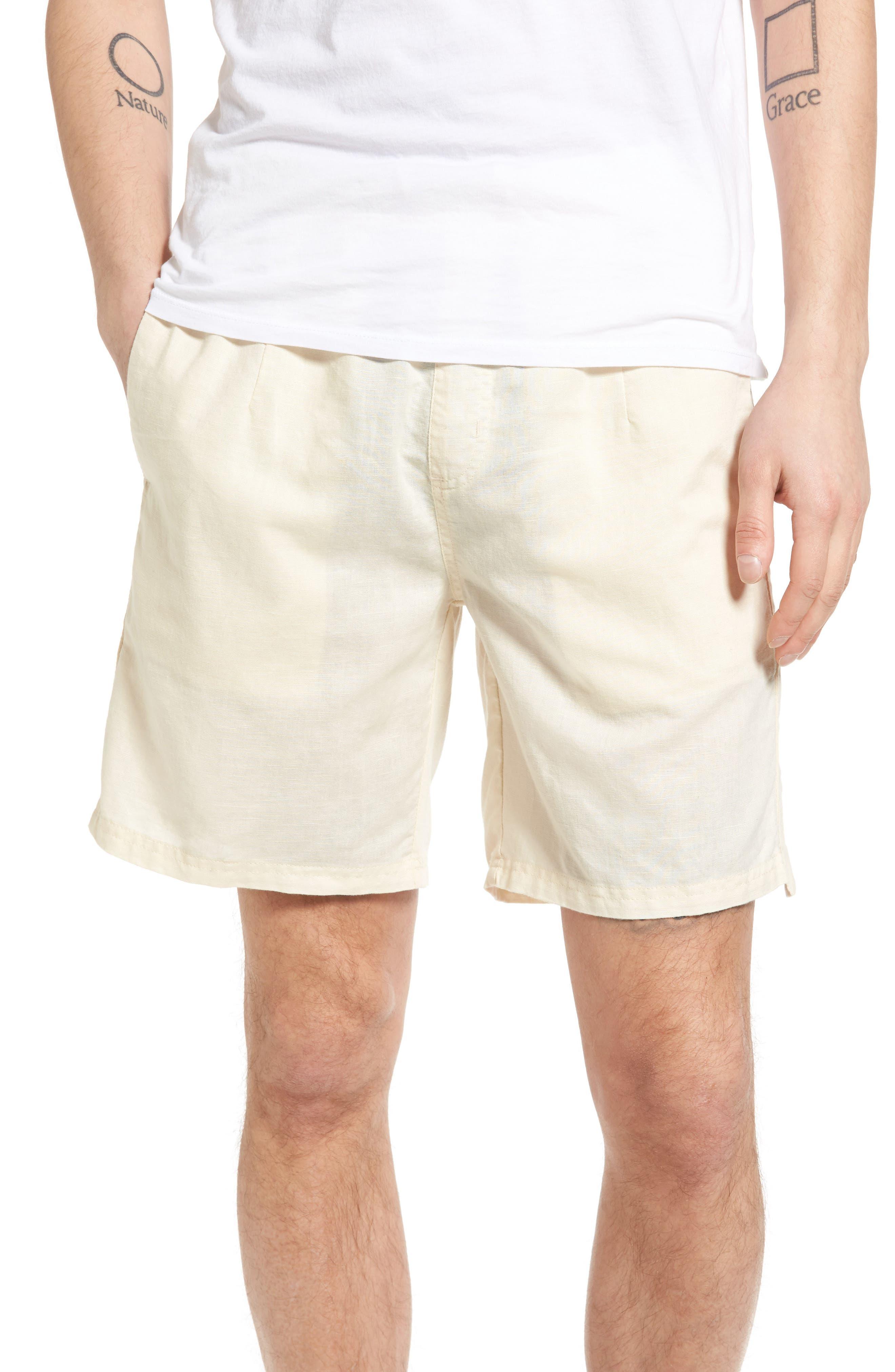 Omni Linen Blend Shorts,                             Main thumbnail 3, color,