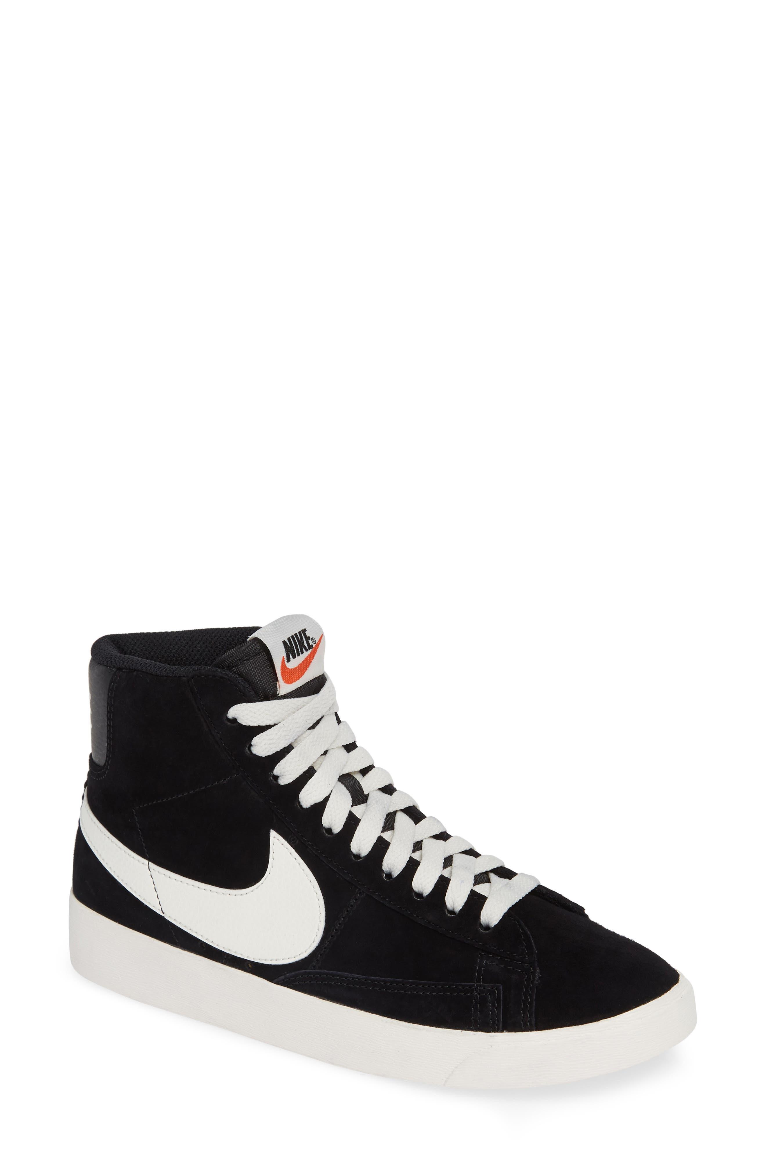 Blazer Mid Vintage Sneaker,                             Main thumbnail 1, color,                             BLACK/ SAIL