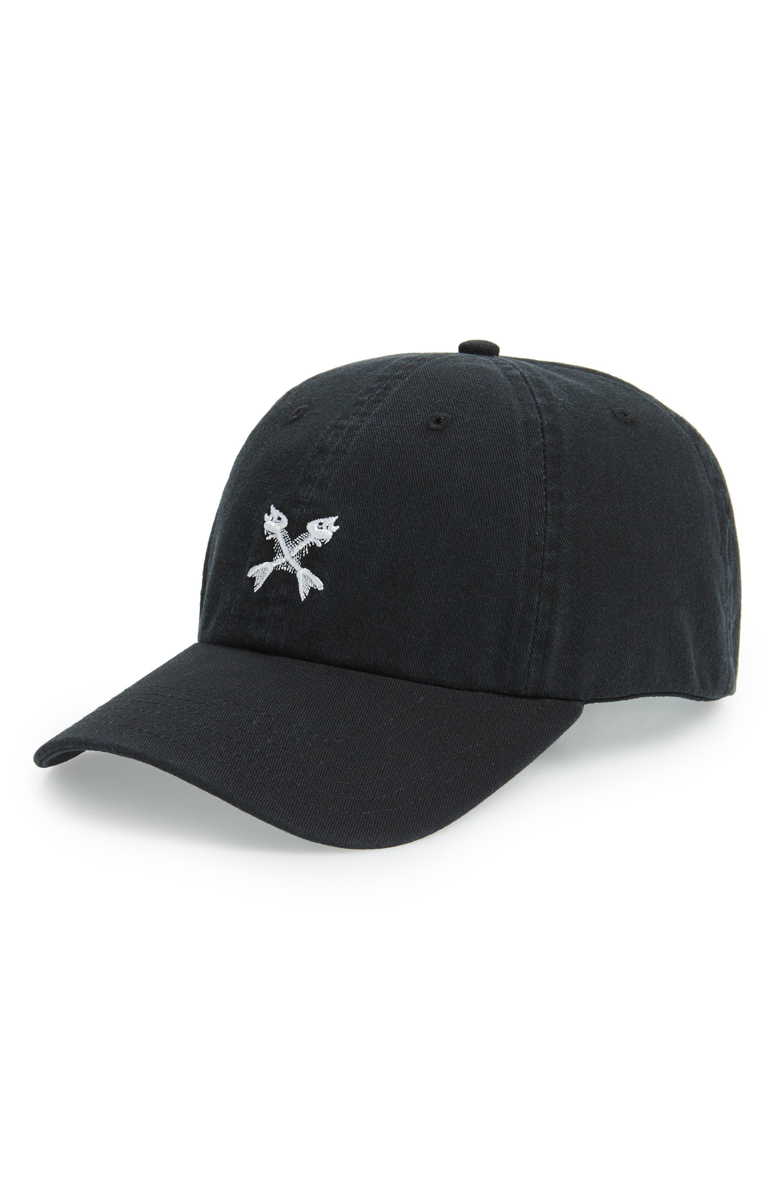 Bonefish Icon Cap,                         Main,                         color, JET BLACK