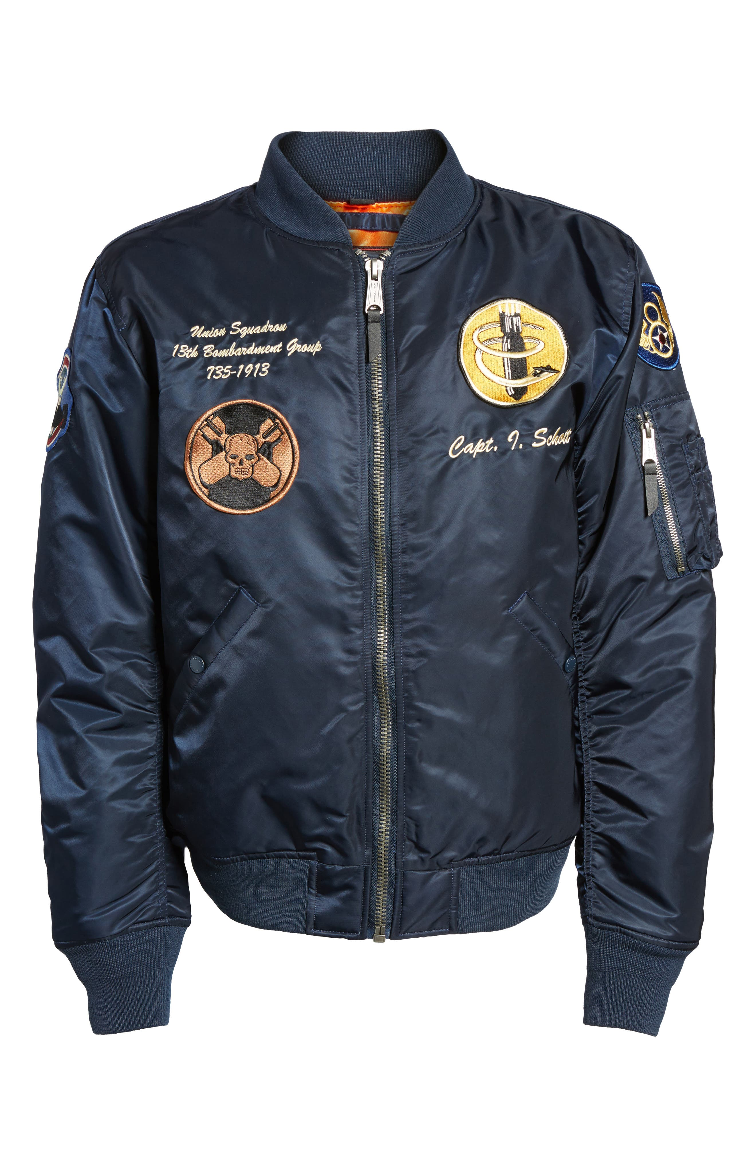 Highly Decorated Embroidered Flight Jacket,                             Alternate thumbnail 15, color,