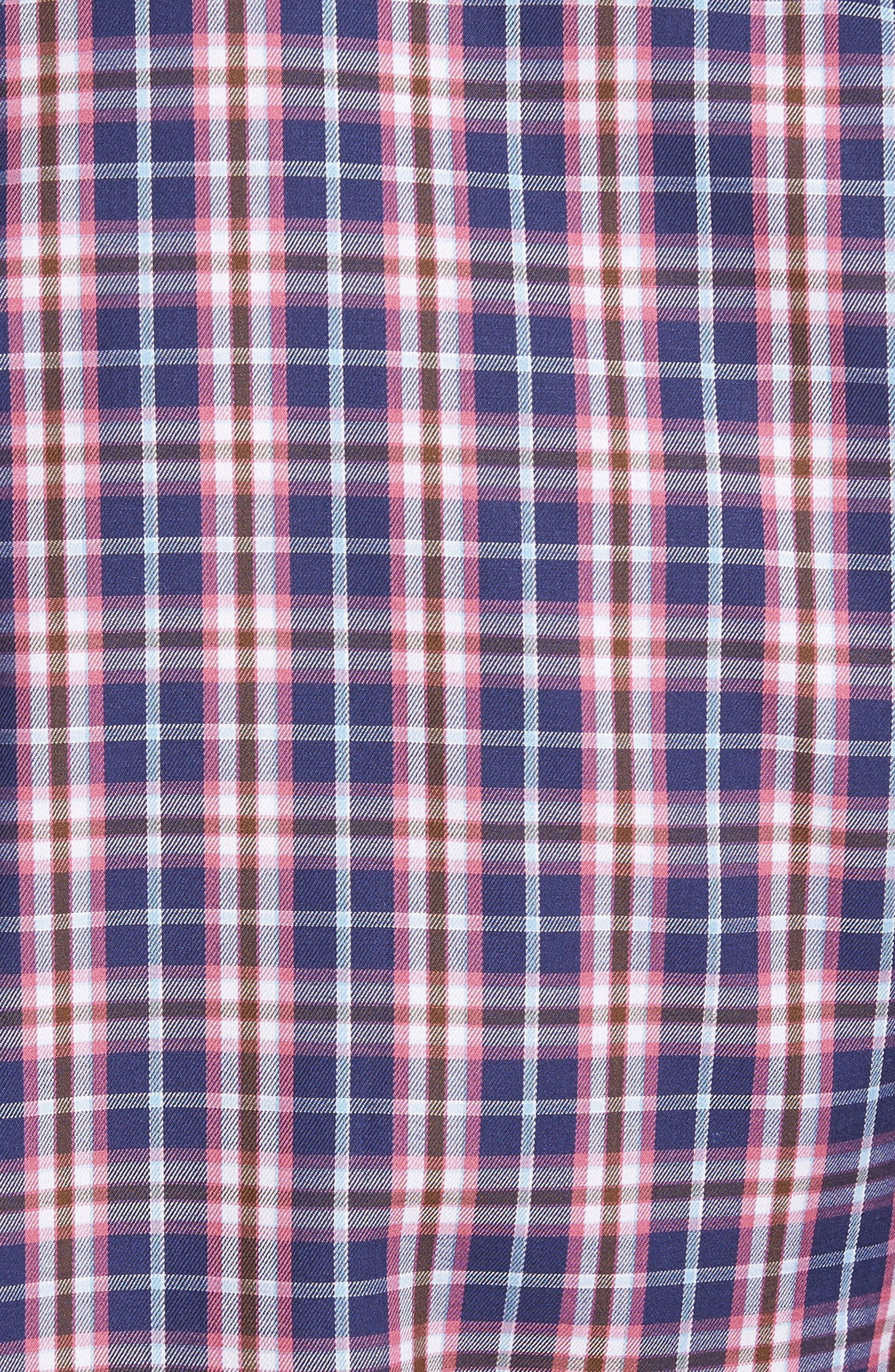 Mitchell Plaid Sport Shirt,                             Alternate thumbnail 5, color,                             420