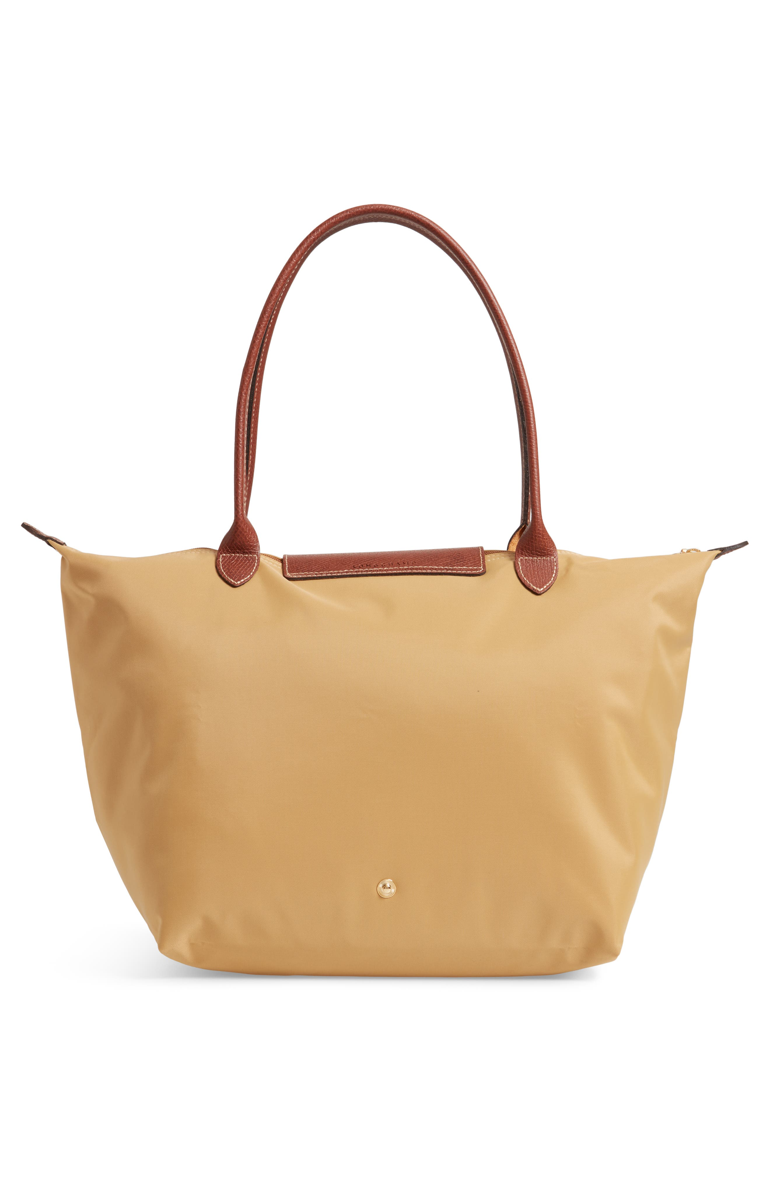 'Large Le Pliage' Tote,                             Alternate thumbnail 3, color,                             HONEY