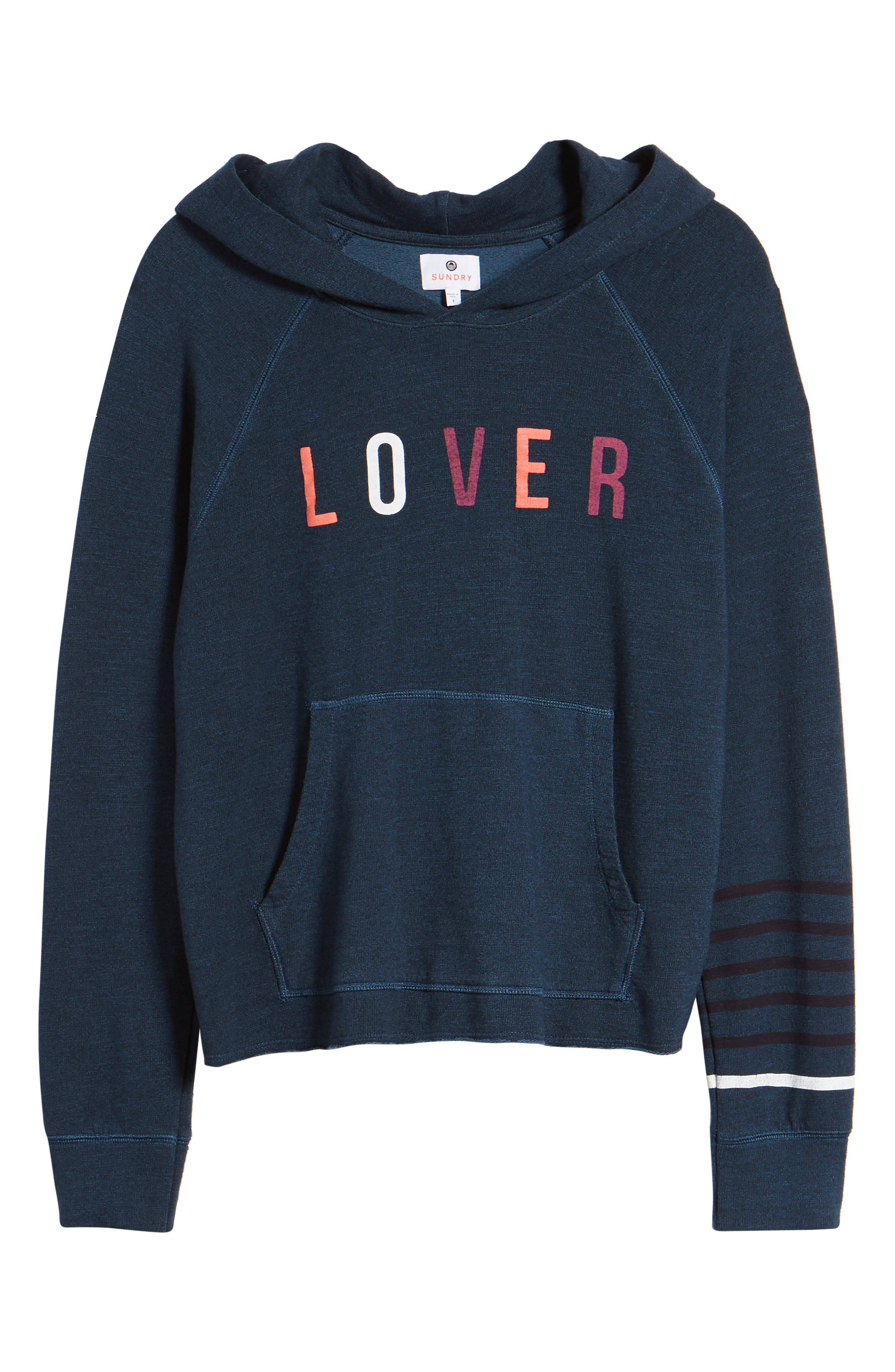 SUNDRY,                             Lover Active Crop Hoodie,                             Alternate thumbnail 7, color,                             405