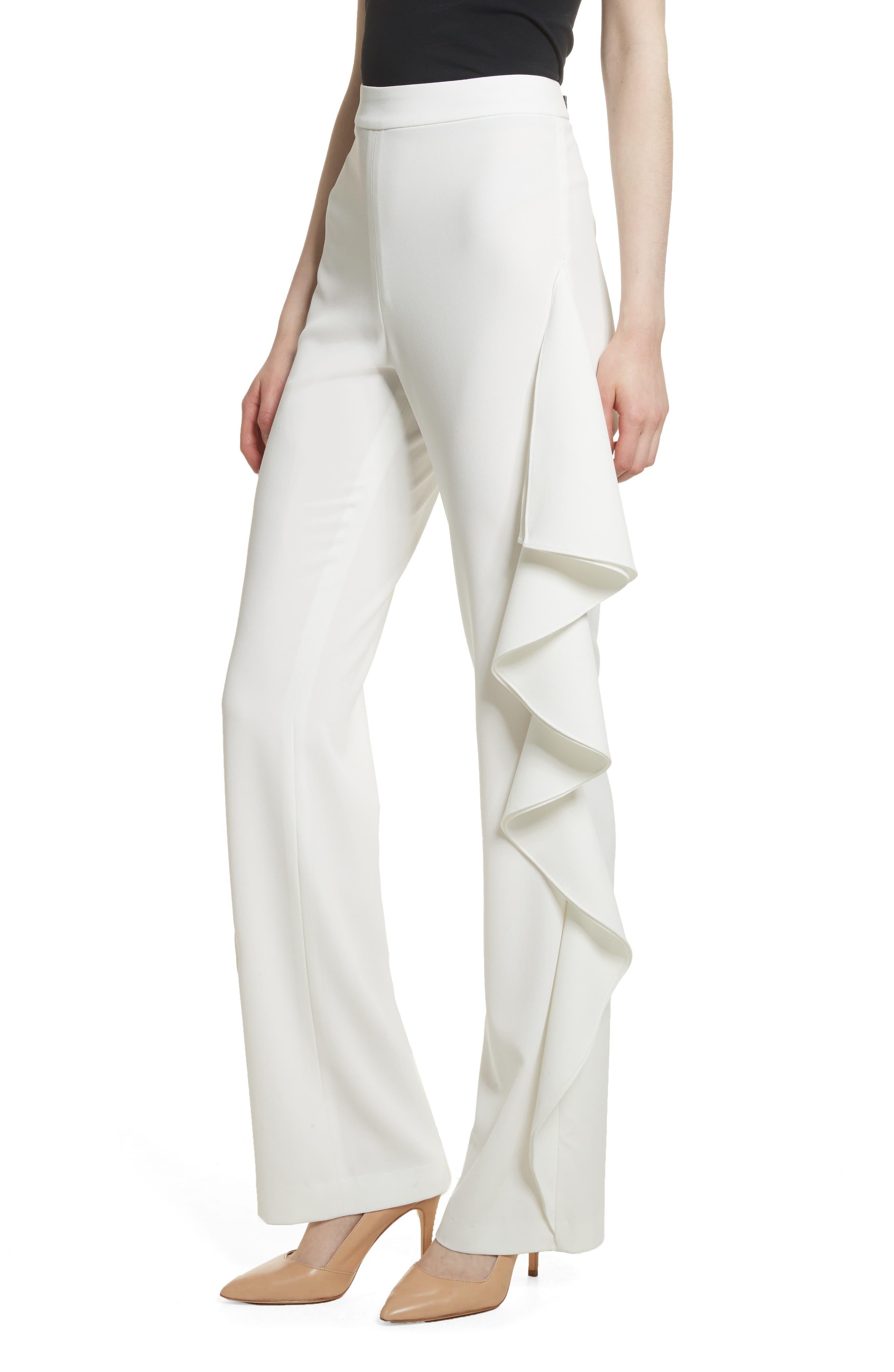 Estell Ruffle Side Pants,                             Alternate thumbnail 4, color,