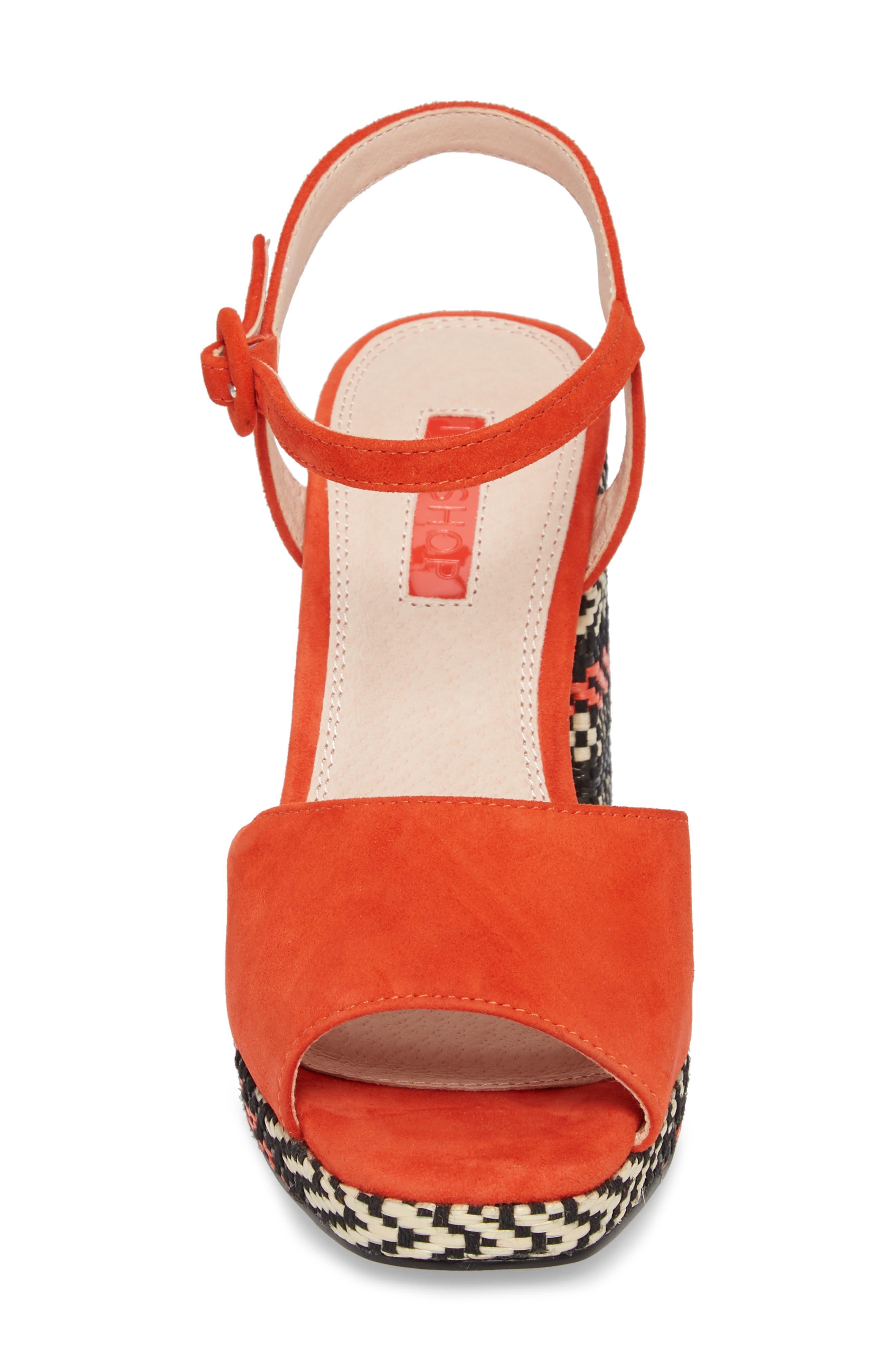 Laura Woven Block Heel Sandal,                             Alternate thumbnail 8, color,
