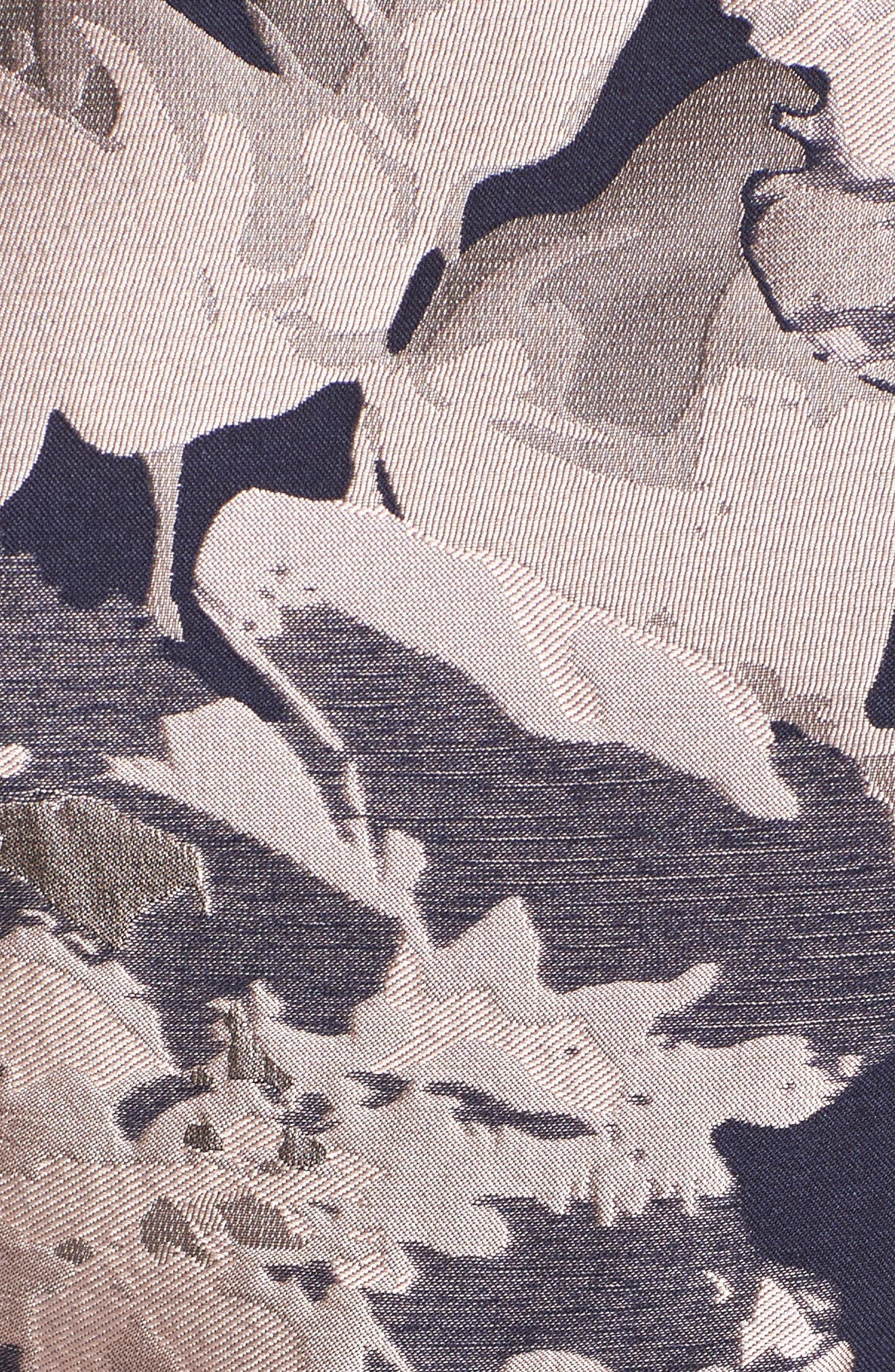 Belted Brocade A-Line Dress,                             Alternate thumbnail 5, color,                             410