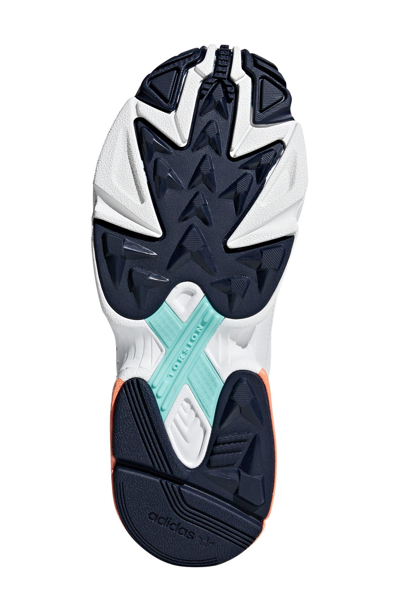 Falcon Sneaker,                             Alternate thumbnail 4, color,                             CRYSTAL WHITE/ EASY ORANGE