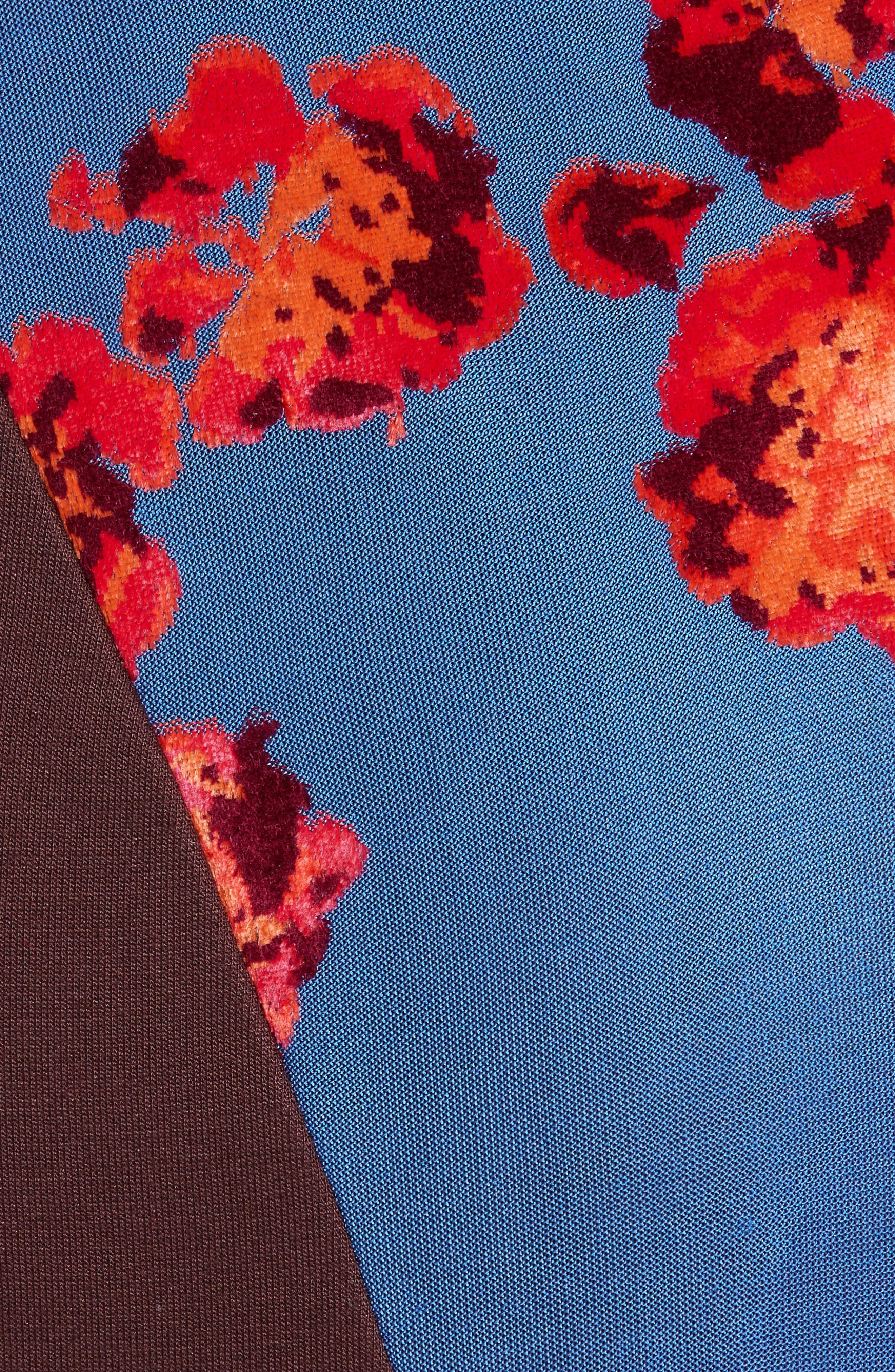 Jacquard Jersey Asymmetrical Skirt,                             Alternate thumbnail 5, color,                             400