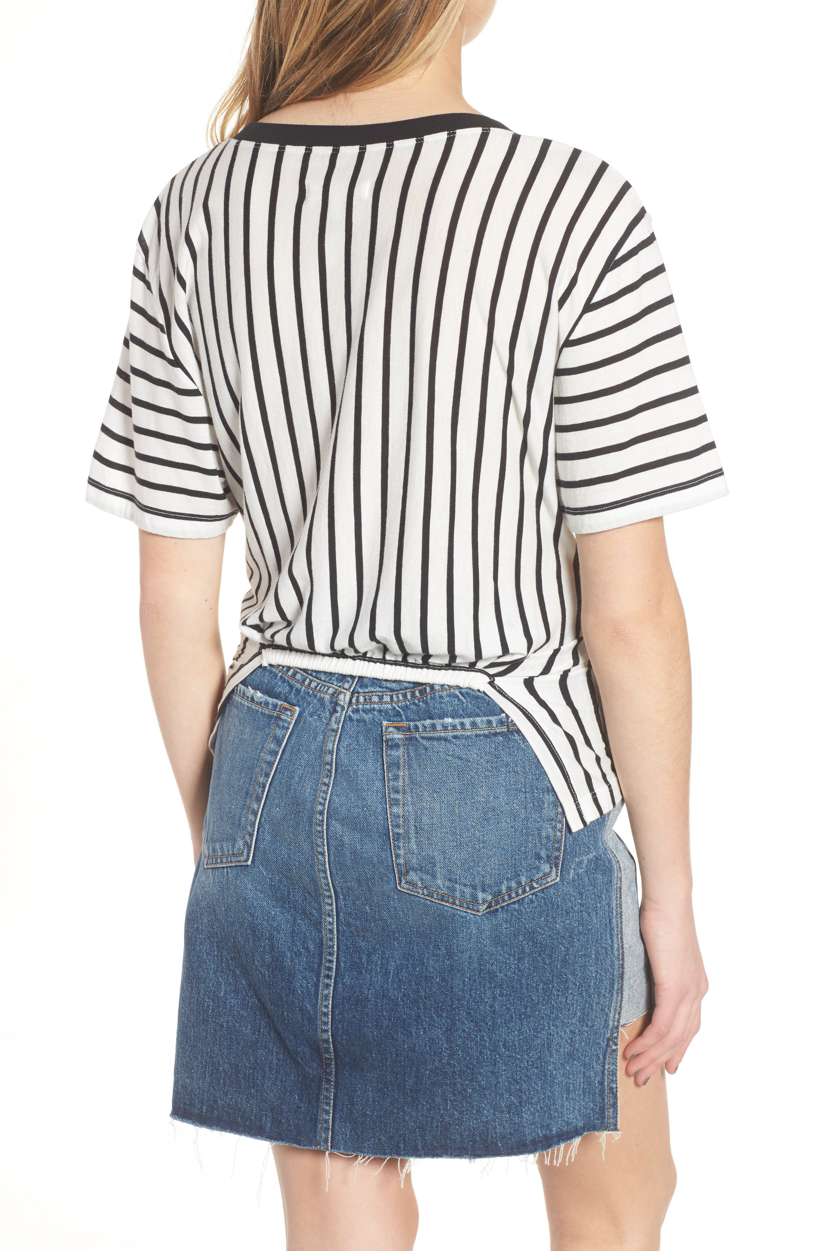 Stripe Knotted Tee,                             Alternate thumbnail 2, color,                             005