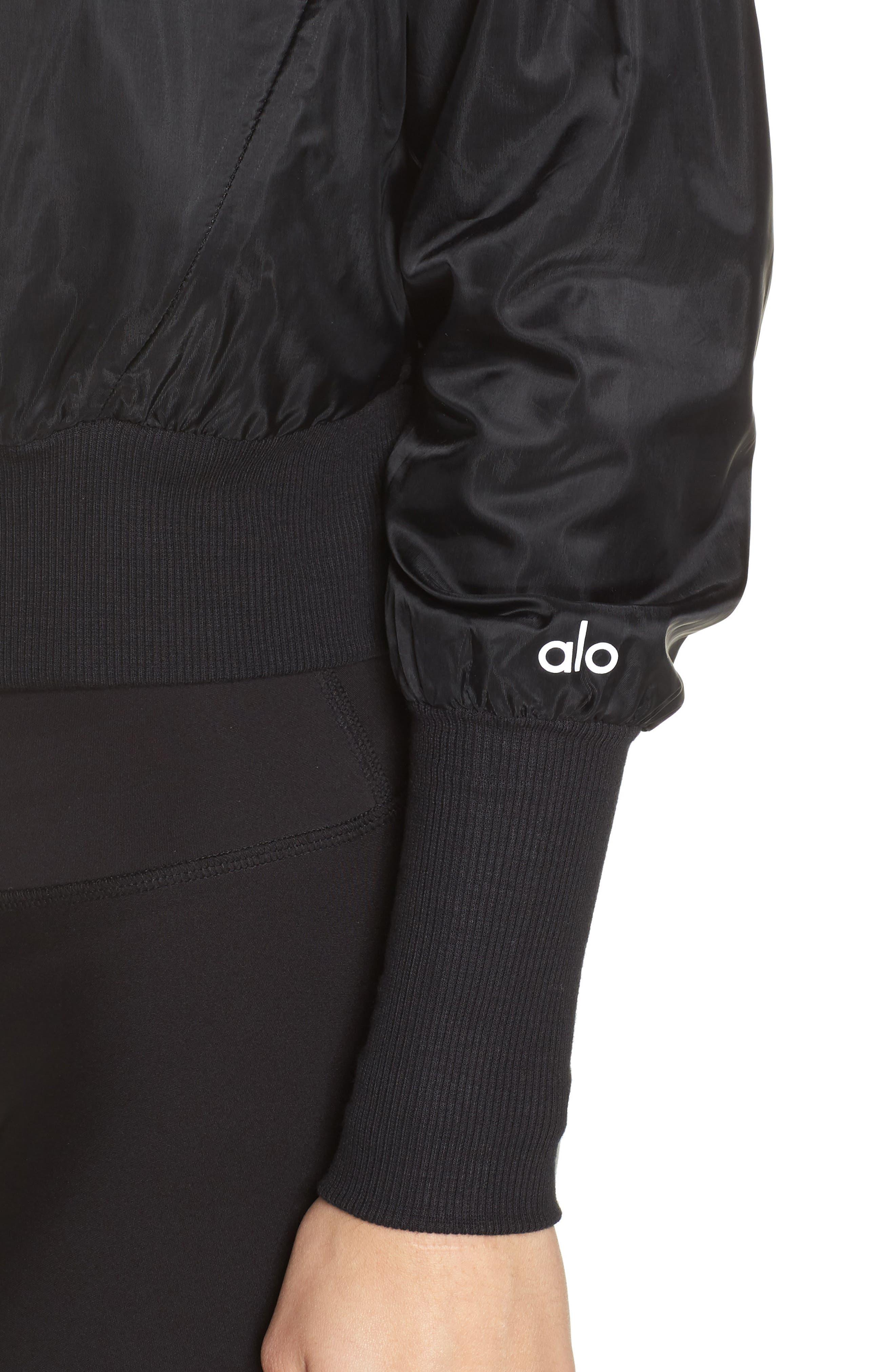 Aqua Jacket,                             Alternate thumbnail 4, color,                             BLACK