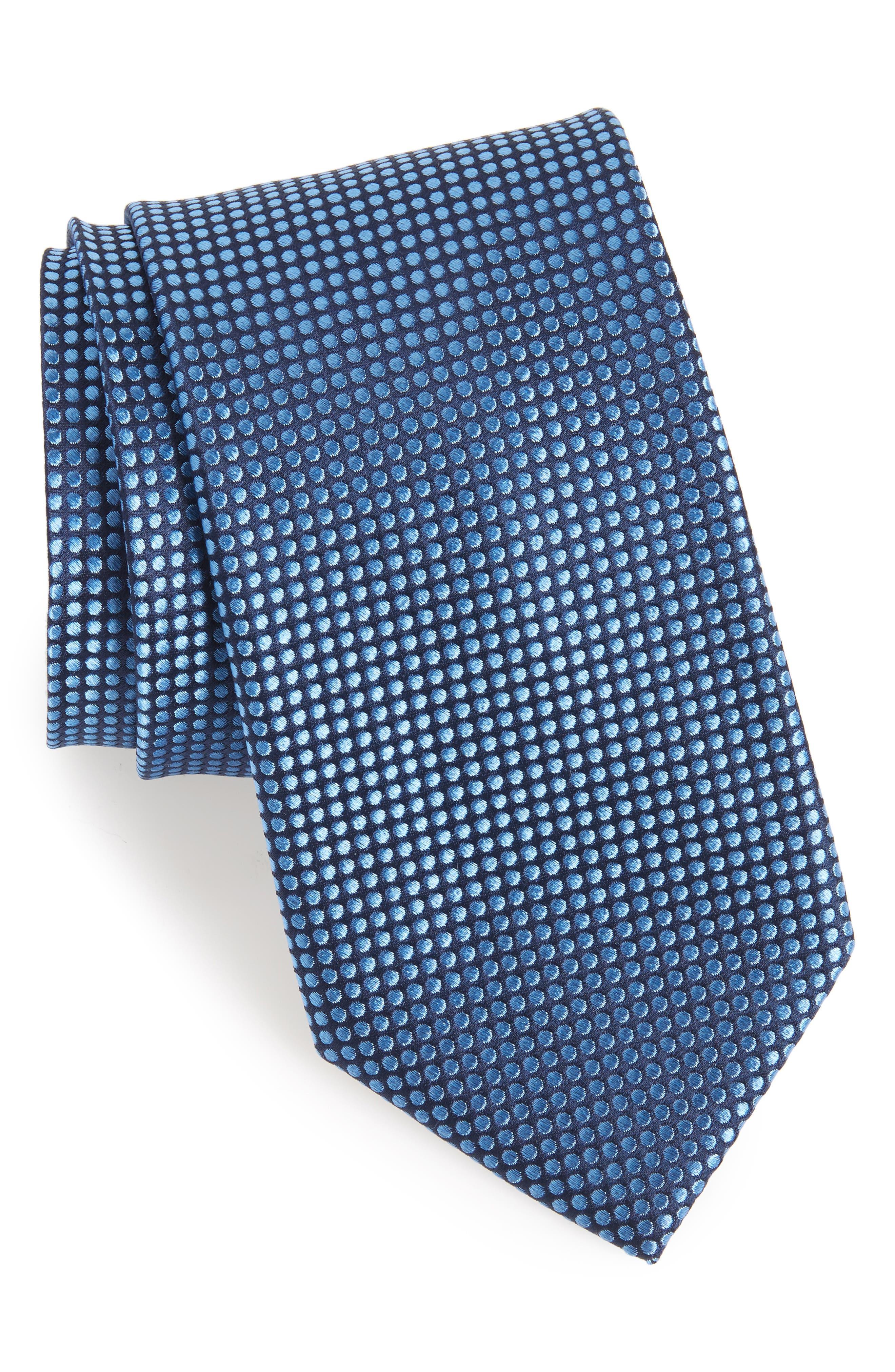 Charlie Dot Silk Tie,                             Main thumbnail 3, color,