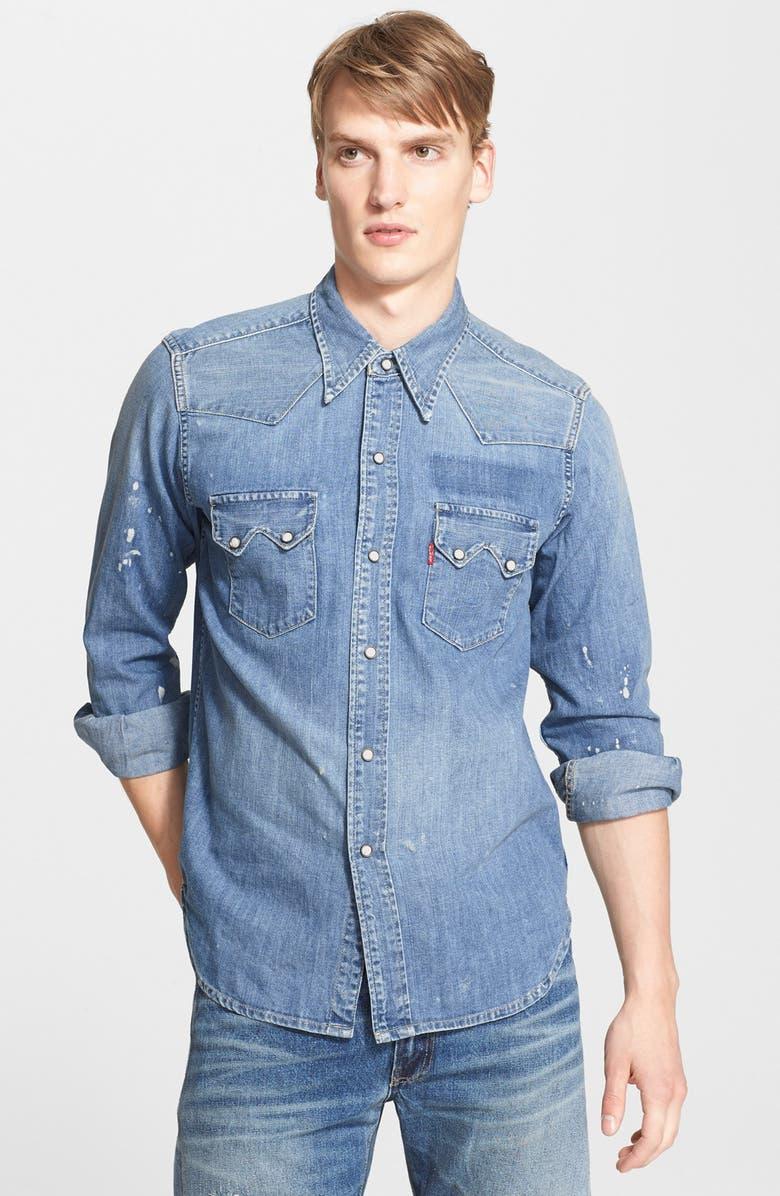 cc4292c723 ... Shirt Source · Levi s Vintage Clothing 1955 Sawtooth Trim Fit Denim  Western