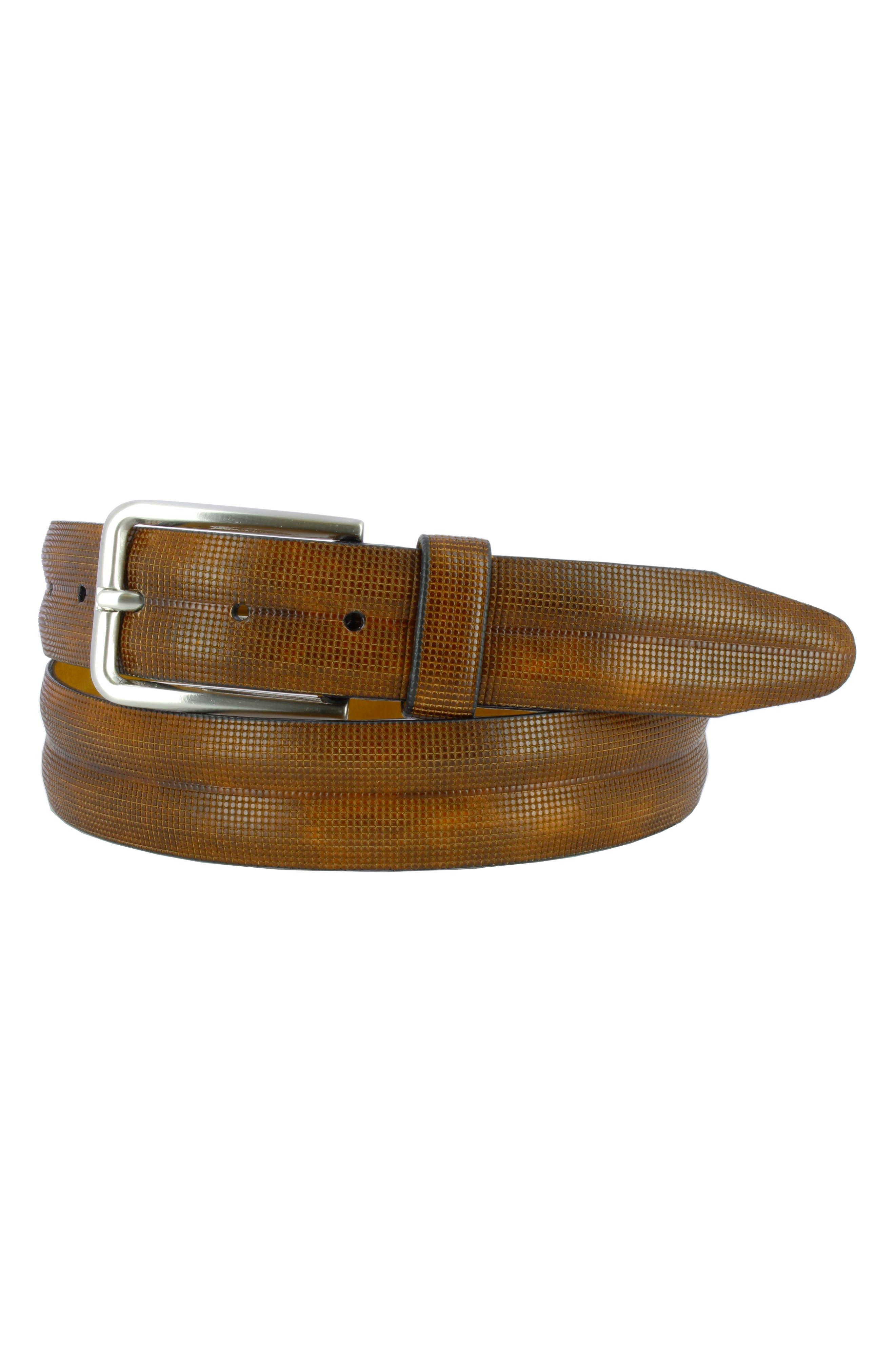 Remo Tulliani Jerrell Embossed Leather Belt