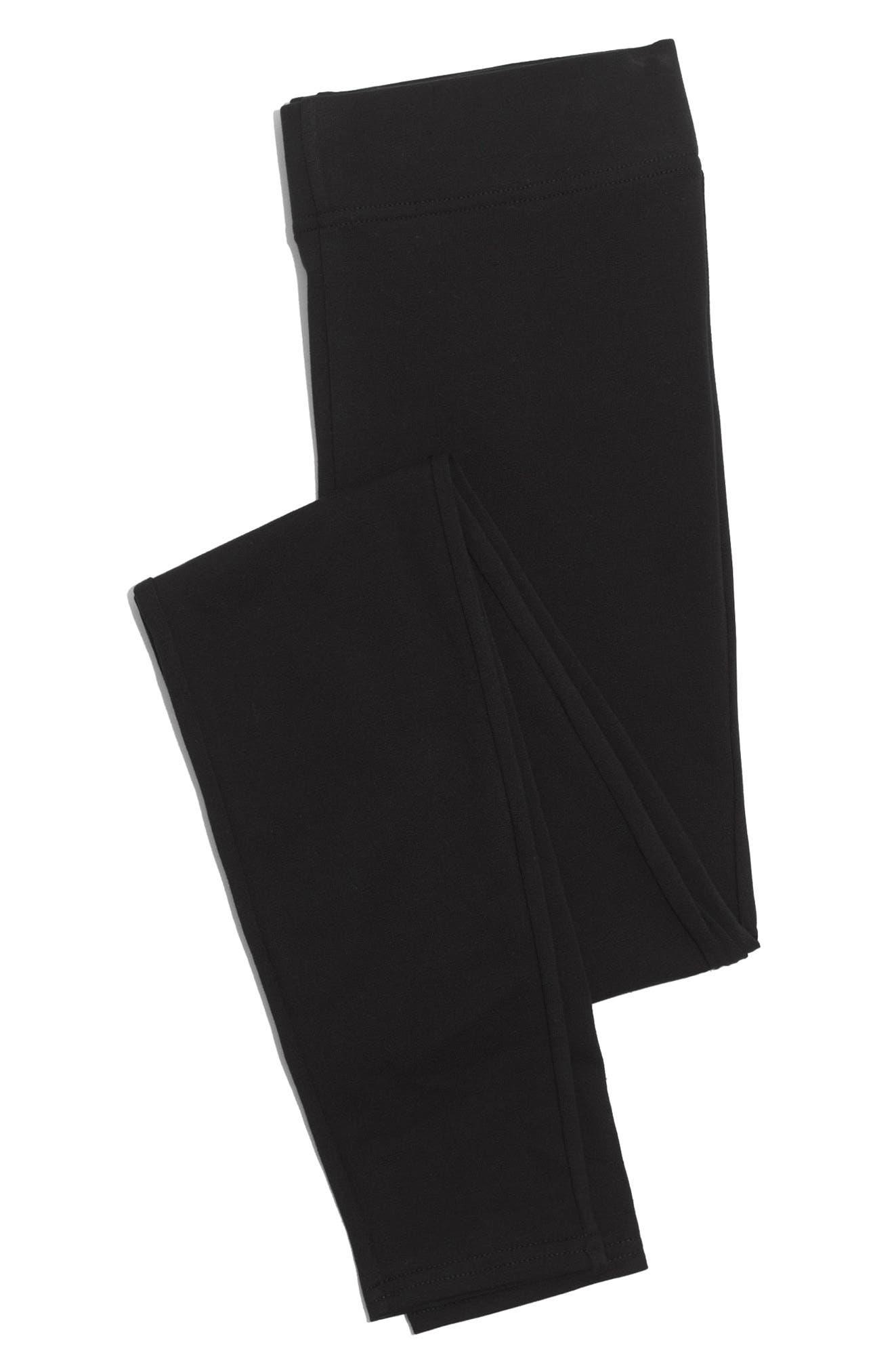 High Waist Ankle Leggings,                             Alternate thumbnail 3, color,                             TRUE BLACK