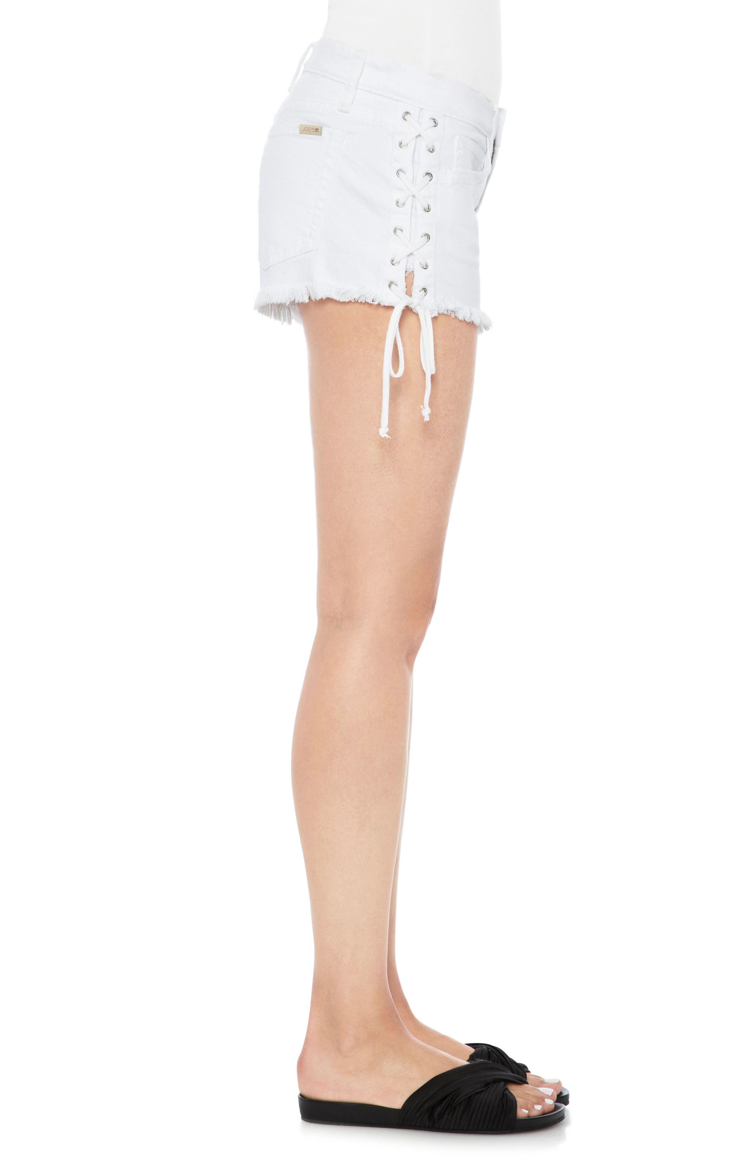 Boyfriend Cutoff Denim Shorts,                             Alternate thumbnail 3, color,                             100